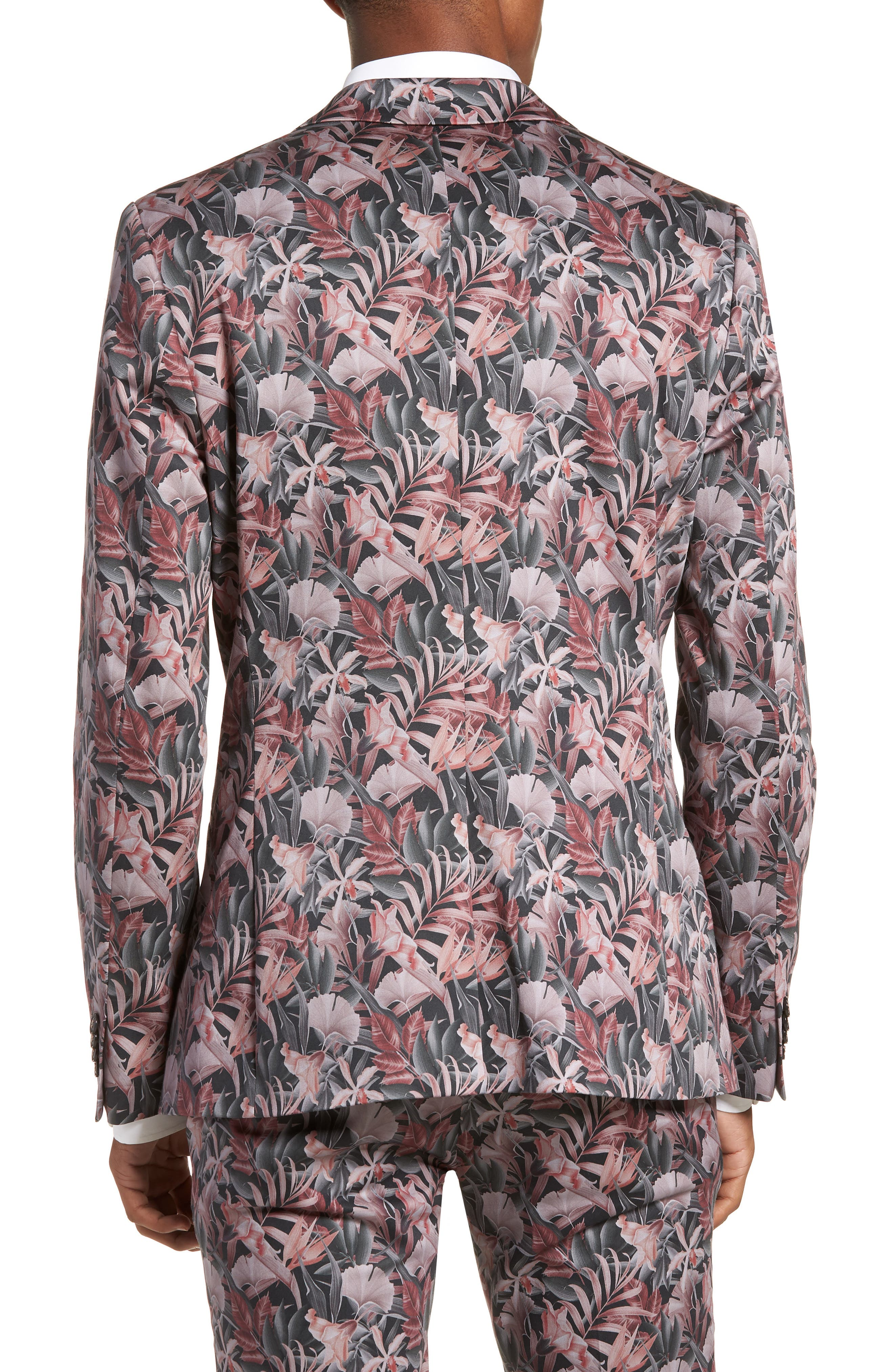 Ultra Skinny Fit Hibiscus Print Suit Jacket,                             Alternate thumbnail 2, color,                             650
