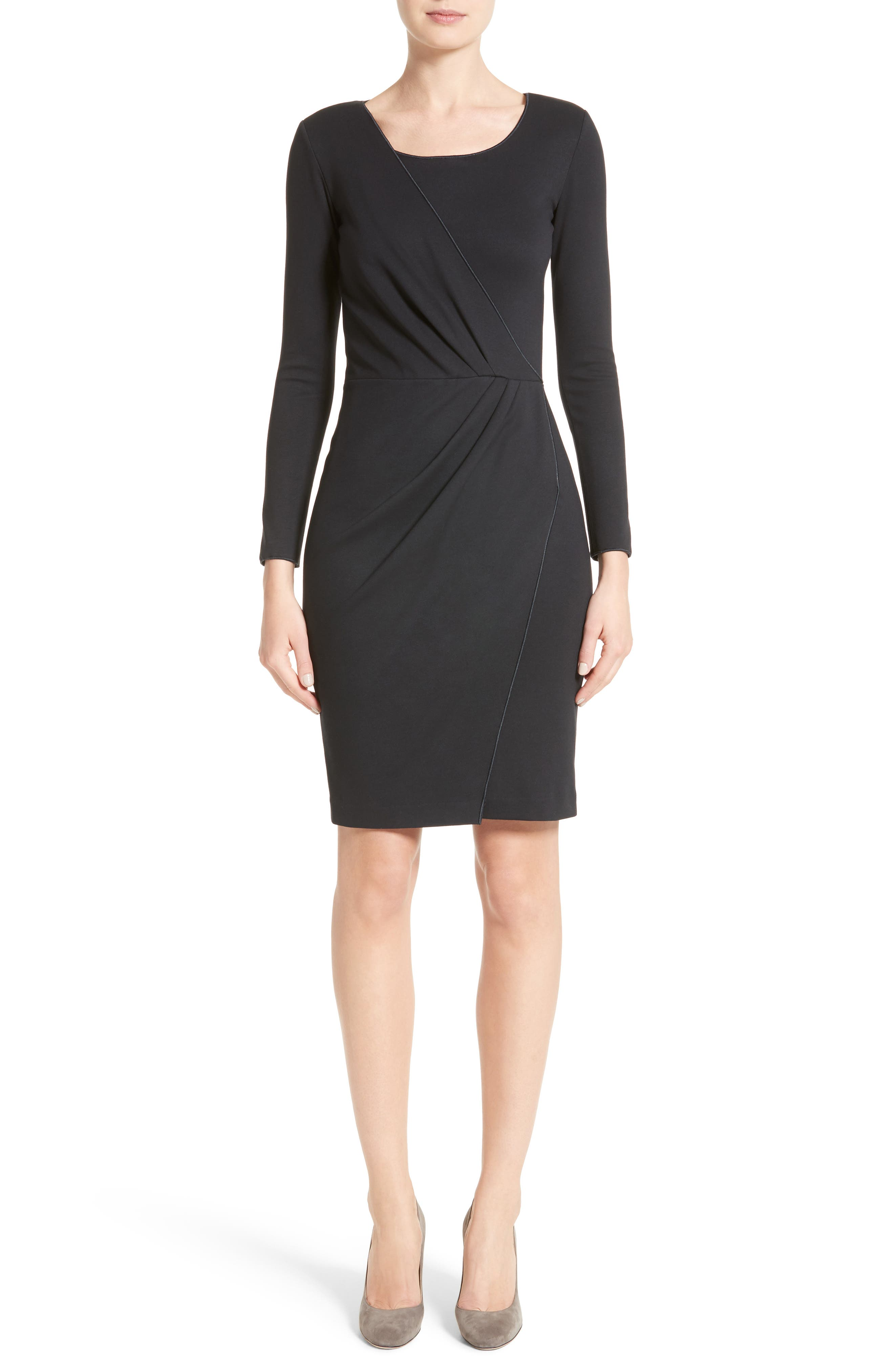 Side Gather Milano Jersey Dress,                             Alternate thumbnail 5, color,                             484