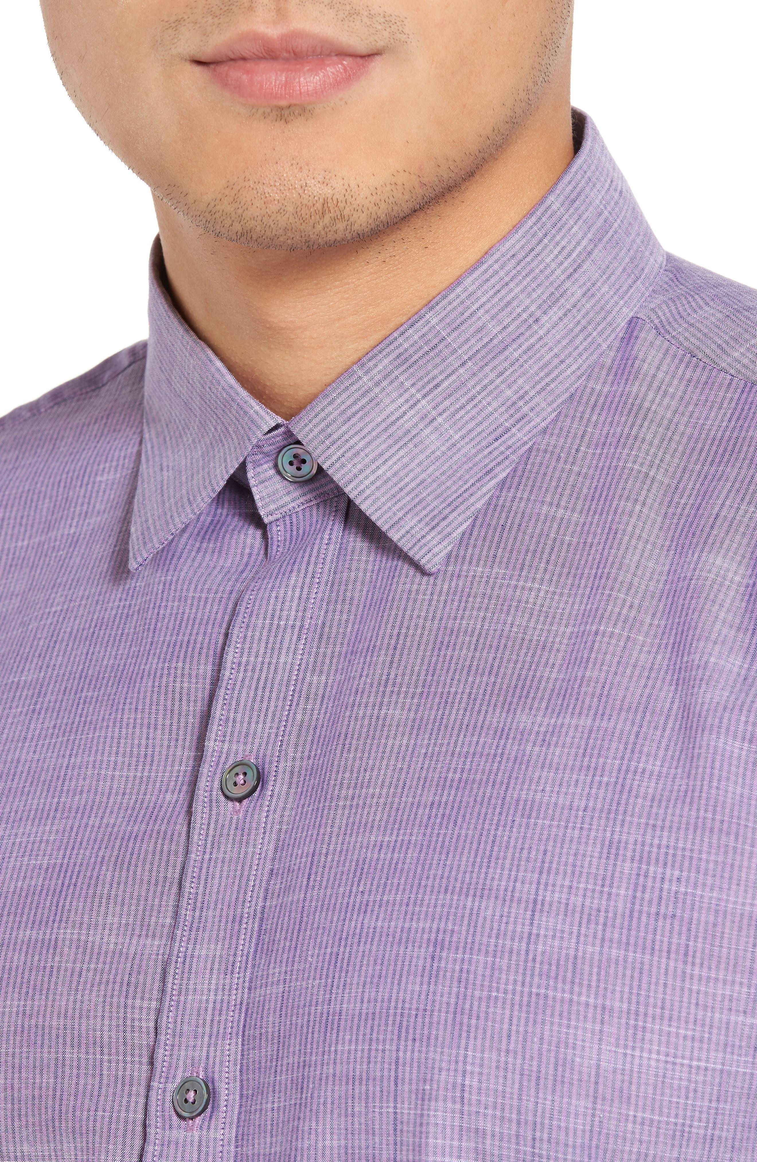 Snower Slim Fit Sport Shirt,                             Alternate thumbnail 4, color,                             500