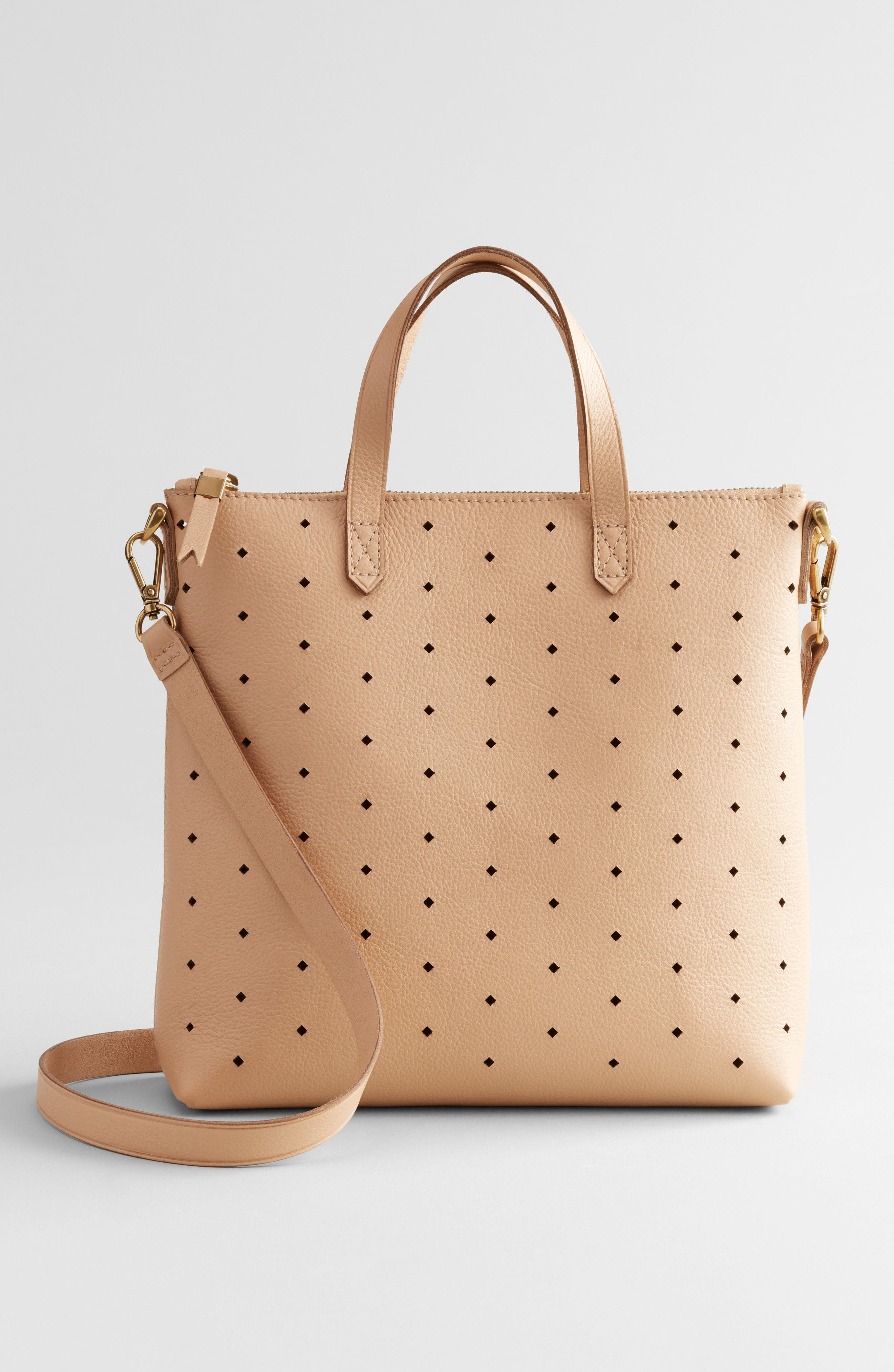 MADEWELL,                             Mini Transport Perforated Leather Crossbody Bag,                             Alternate thumbnail 8, color,                             250