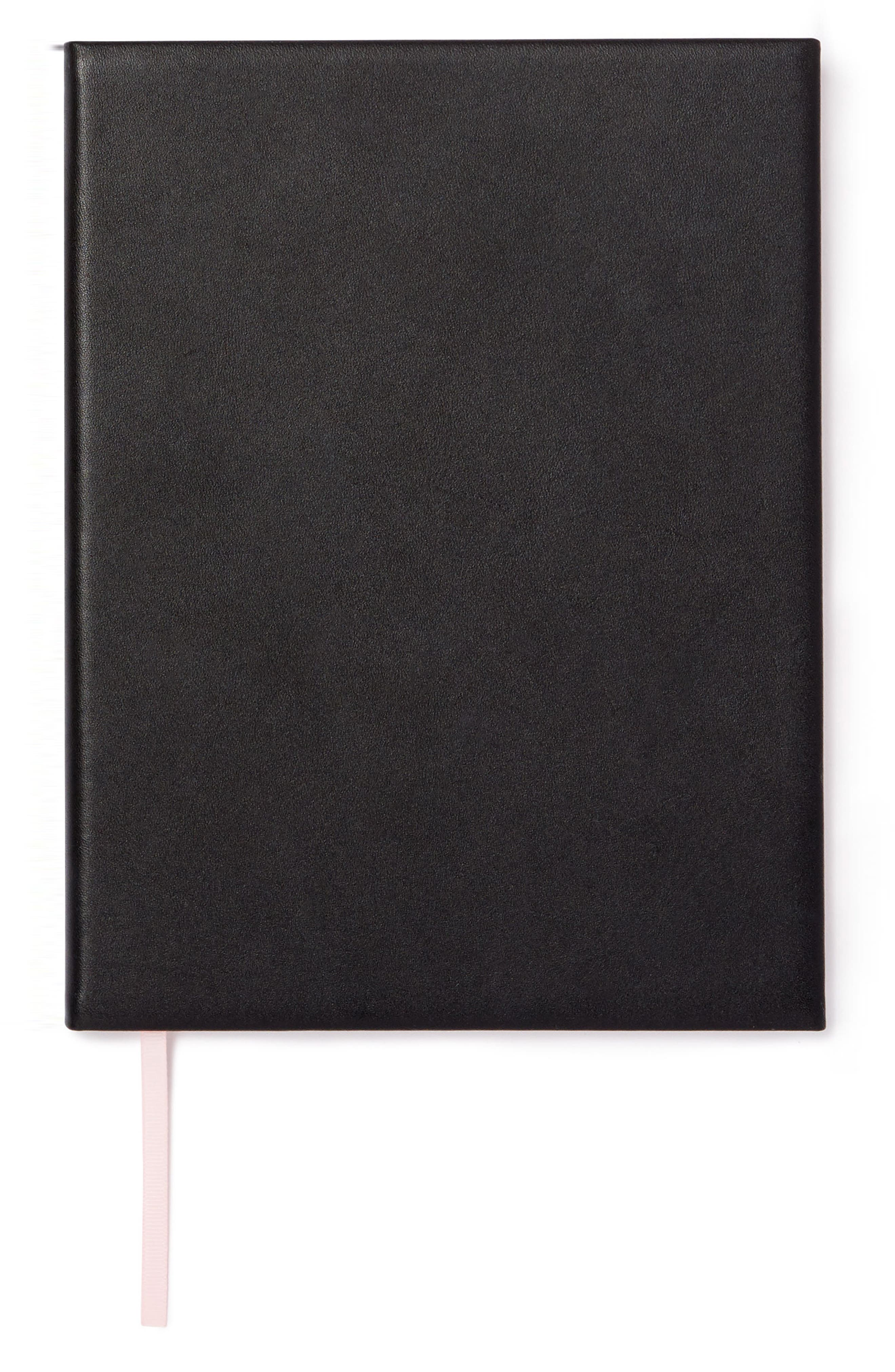 POP & SUKI,                             Personalized Leather Notebook,                             Main thumbnail 1, color,                             001