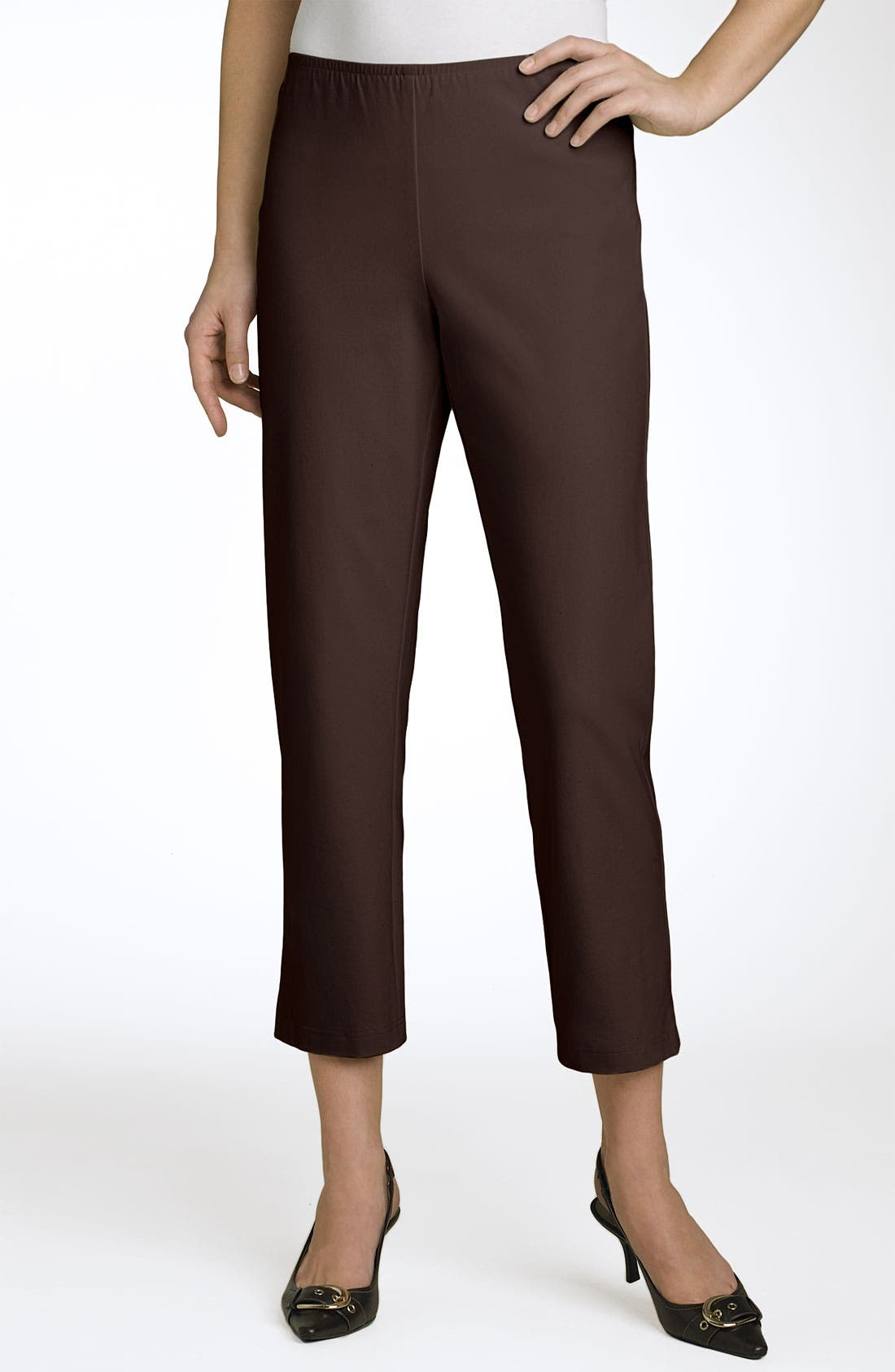 Organic Stretch Cotton Twill Ankle Pants,                             Main thumbnail 13, color,