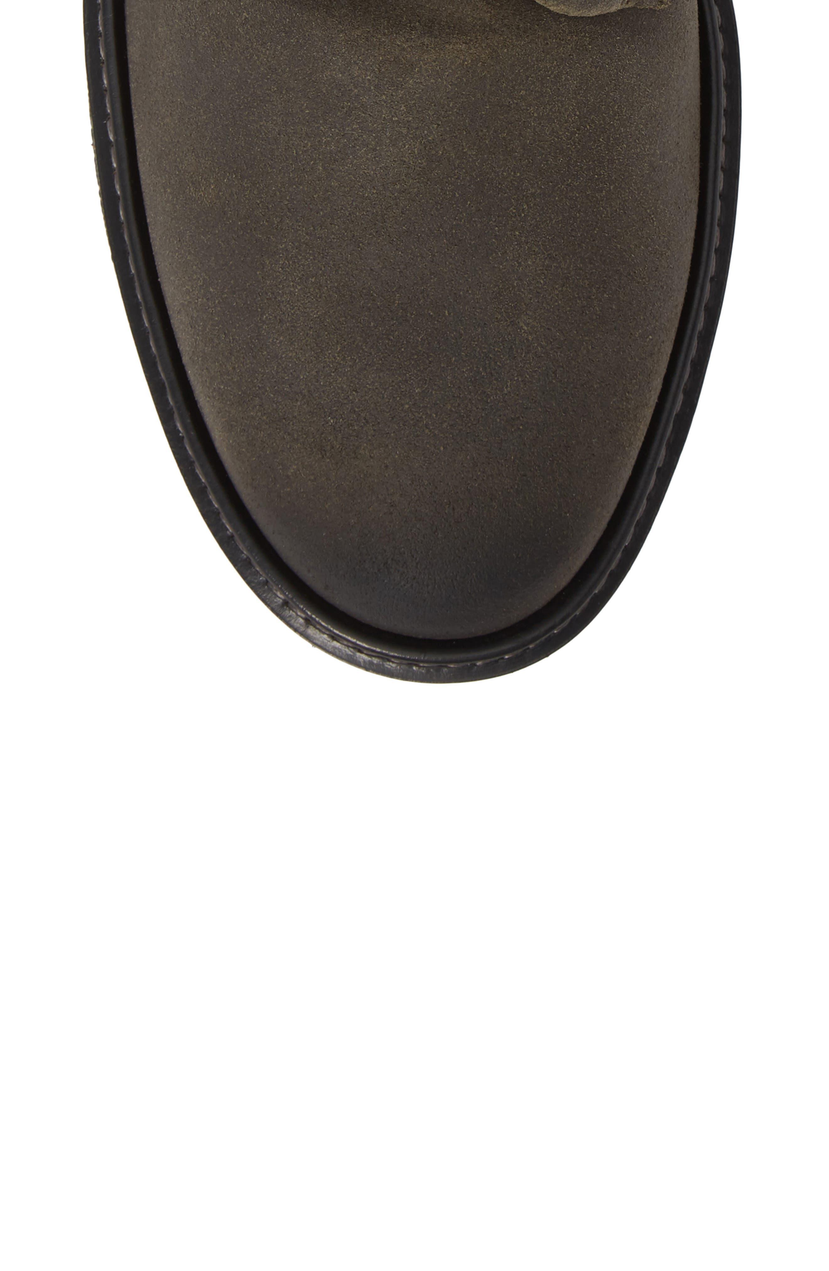 Aurora Plain Toe Boot,                             Alternate thumbnail 5, color,                             TARMAC SUEDE