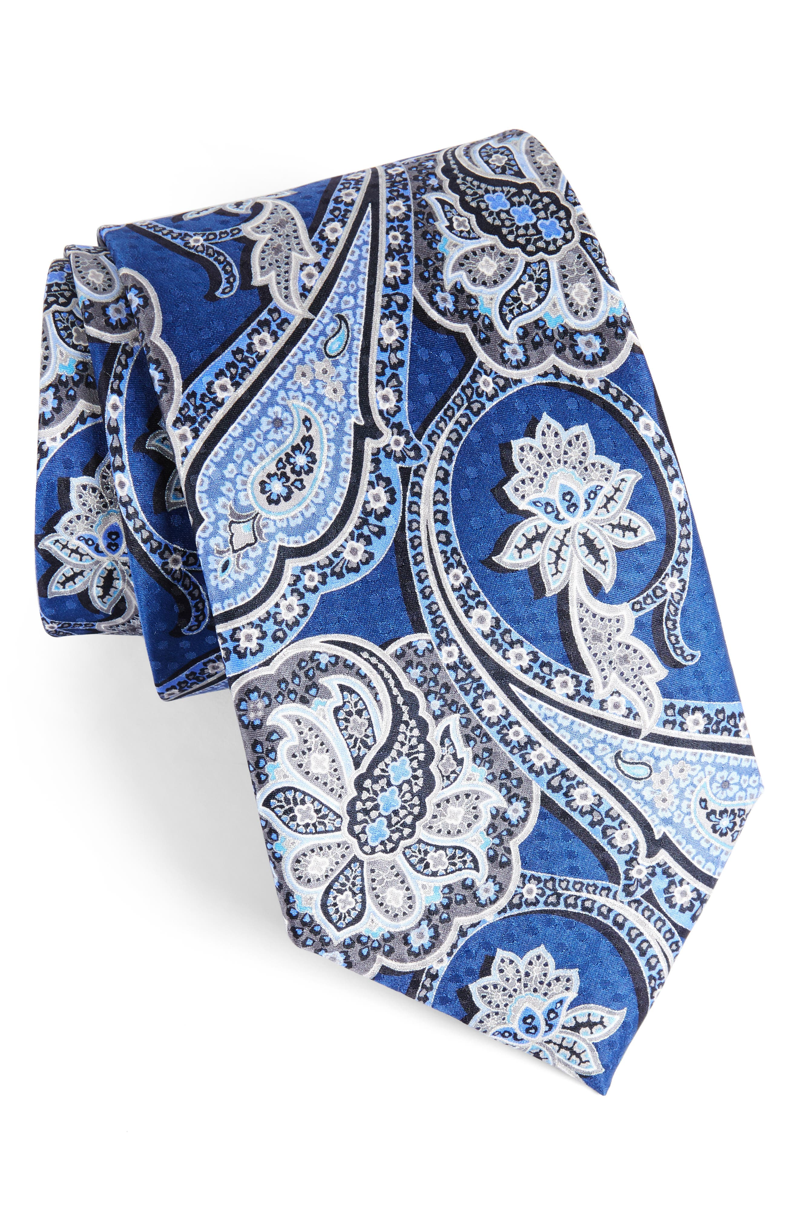 Paisley Silk Tie,                         Main,                         color, 400