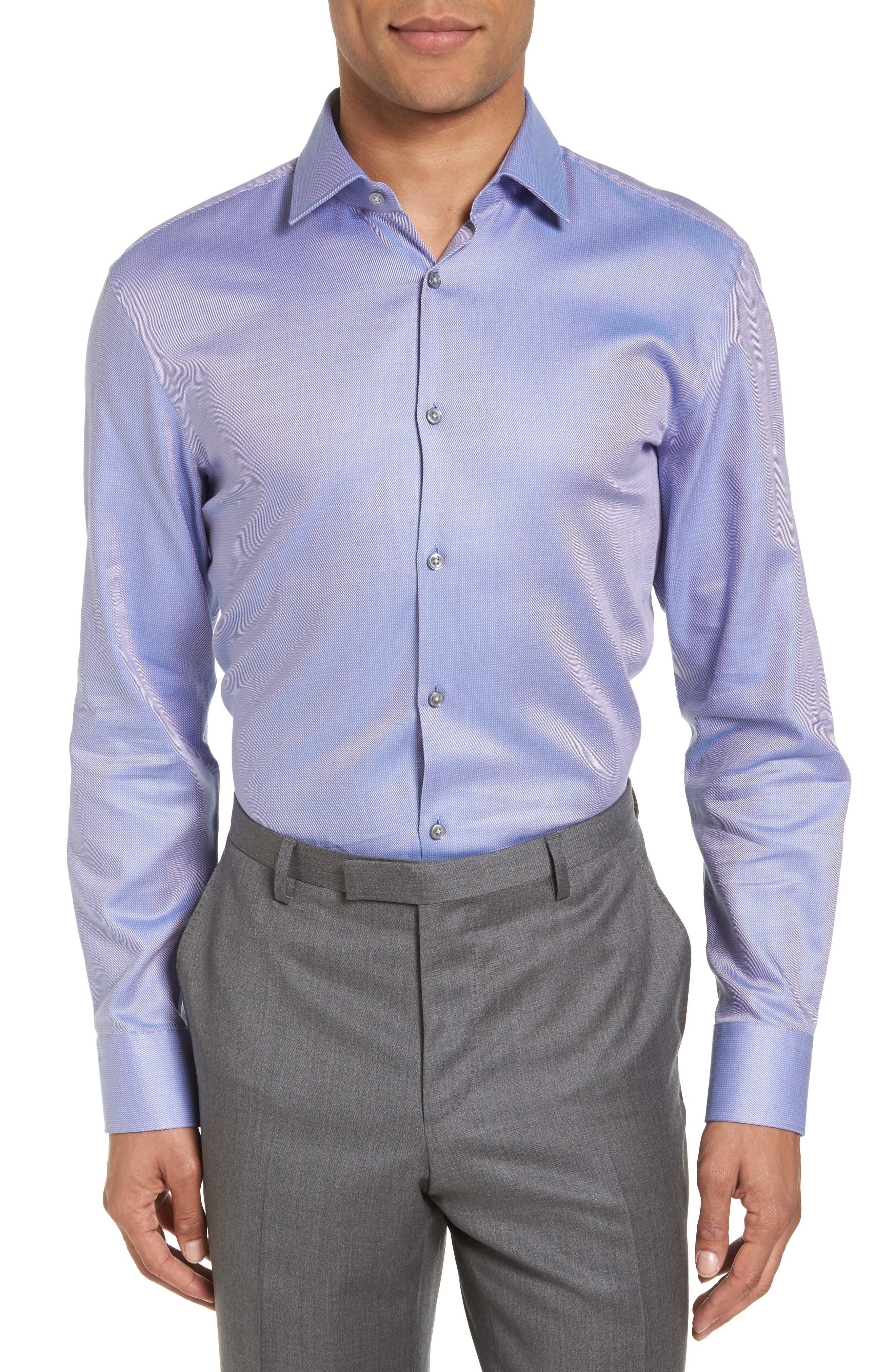 Sharp Fit Solid Dress Shirt,                             Main thumbnail 2, color,