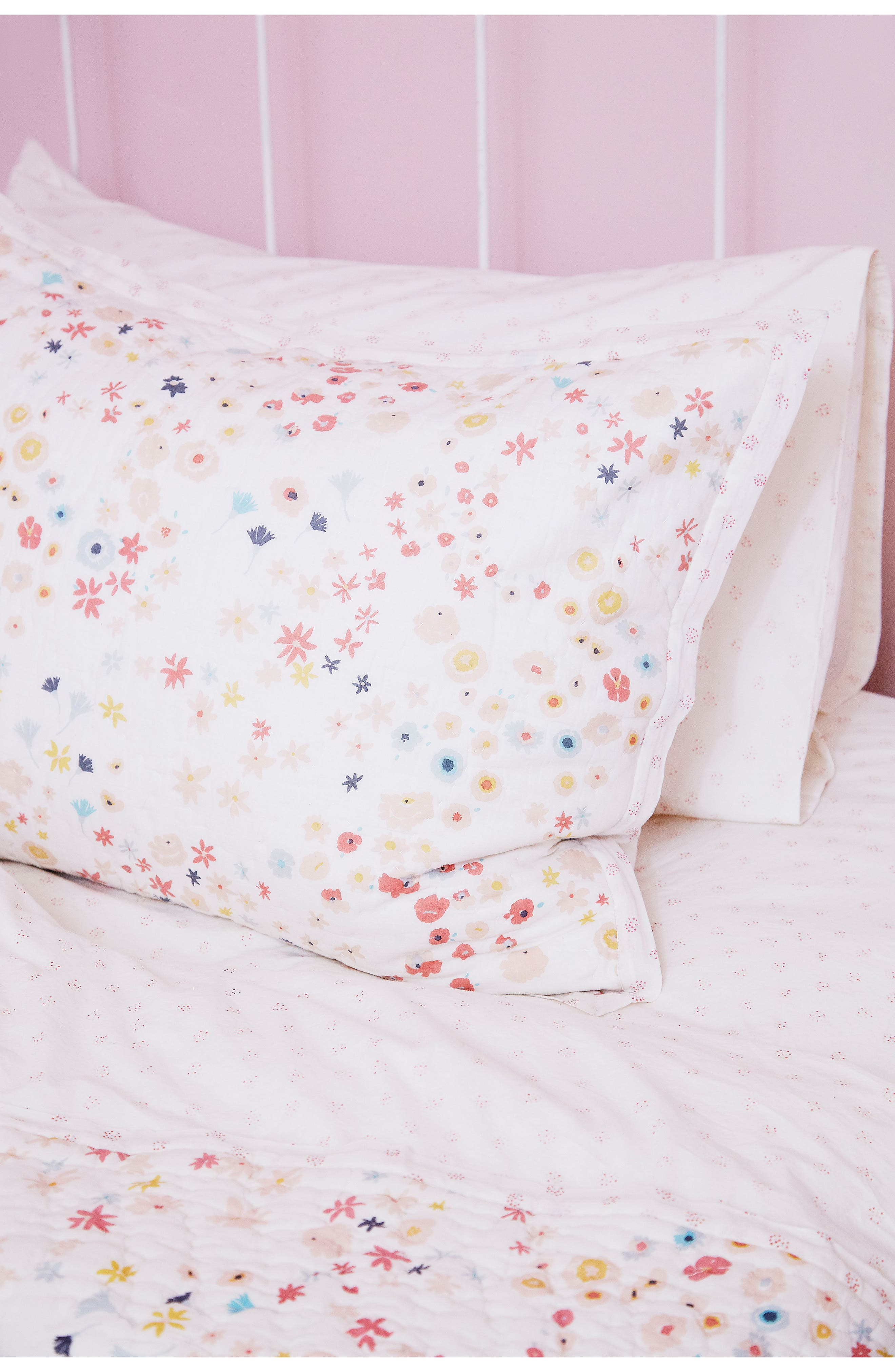 Meadow Reversible Quilted Sham,                             Alternate thumbnail 3, color,                             PINK