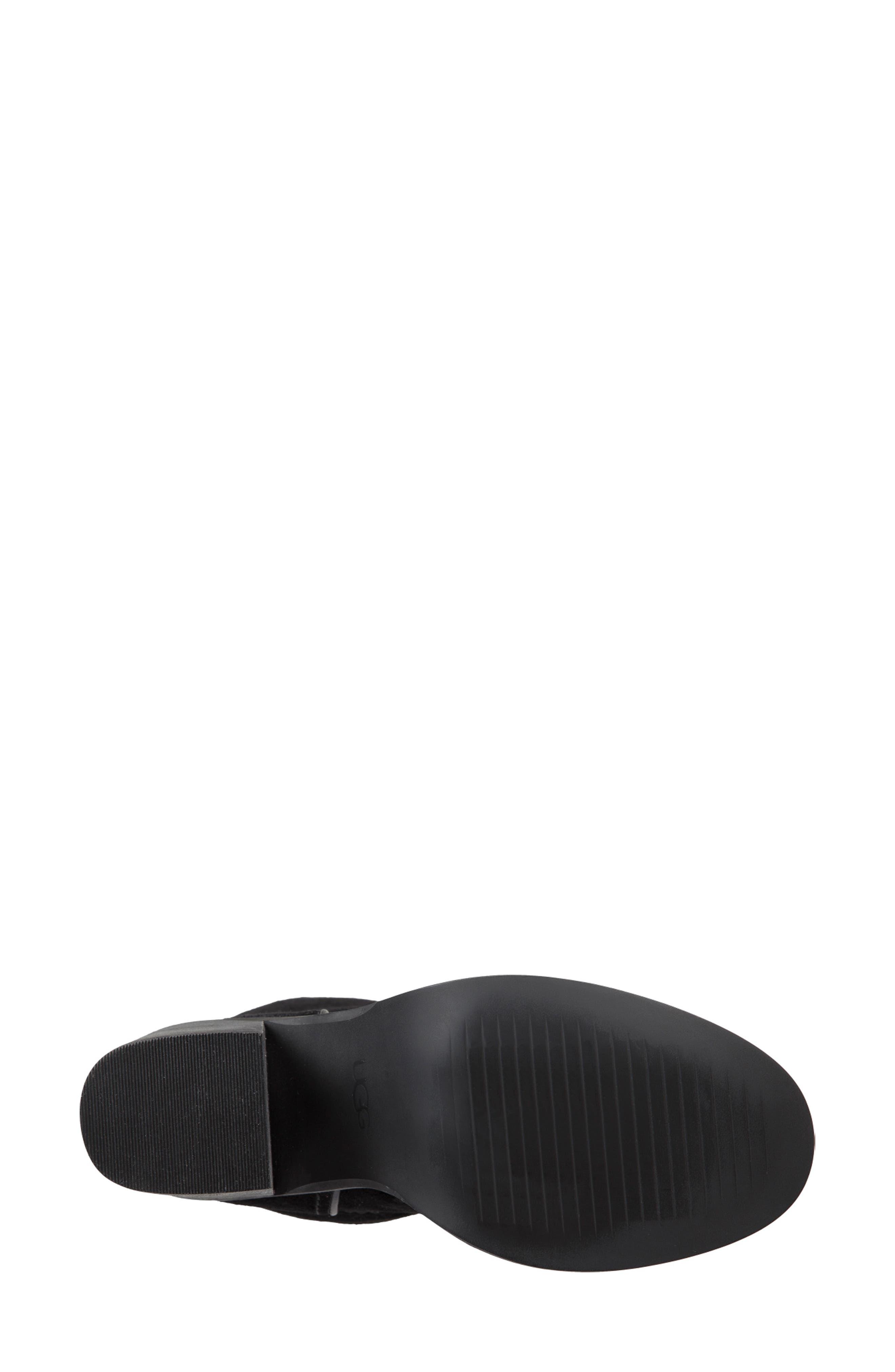 Jerene Genuine Shearling Boot,                             Alternate thumbnail 6, color,                             BLACK