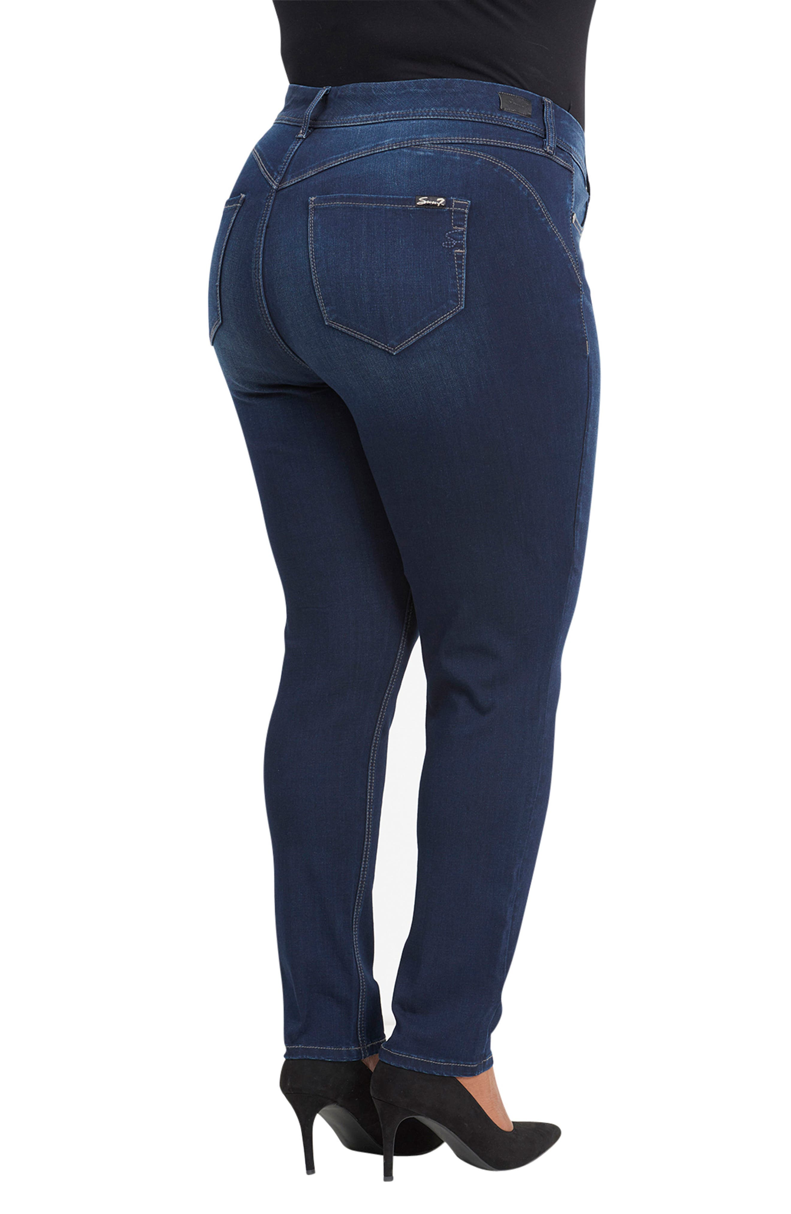 Bootyshaper Skinny Jeans,                             Alternate thumbnail 6, color,                             BLUE