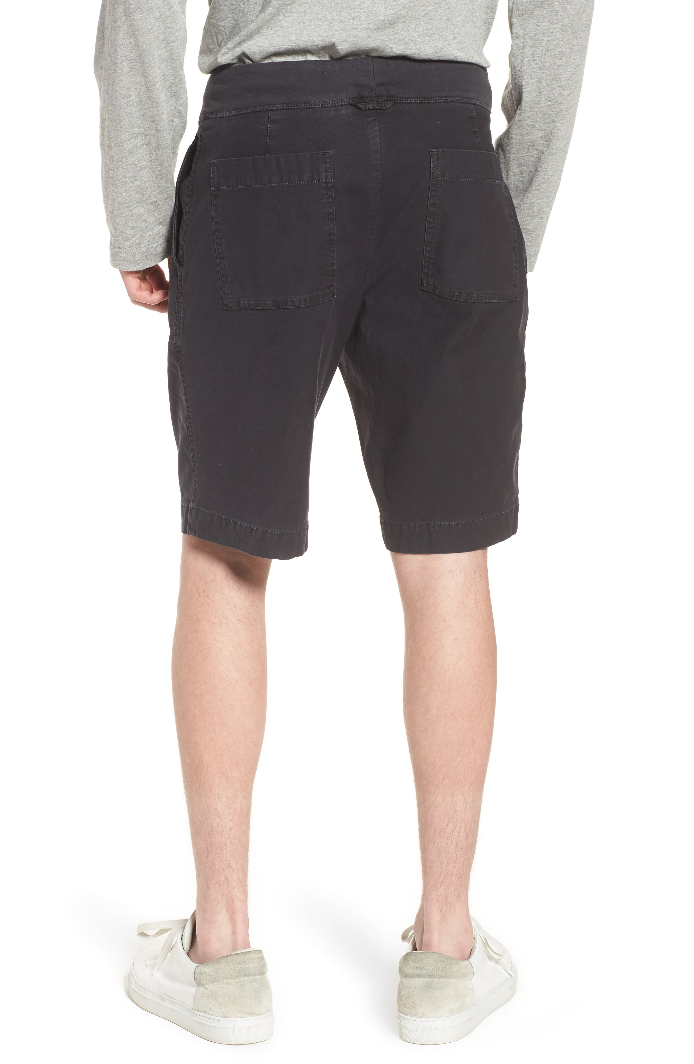JAMES PERSE,                             Compact Stretch Cotton Shorts,                             Alternate thumbnail 2, color,                             020