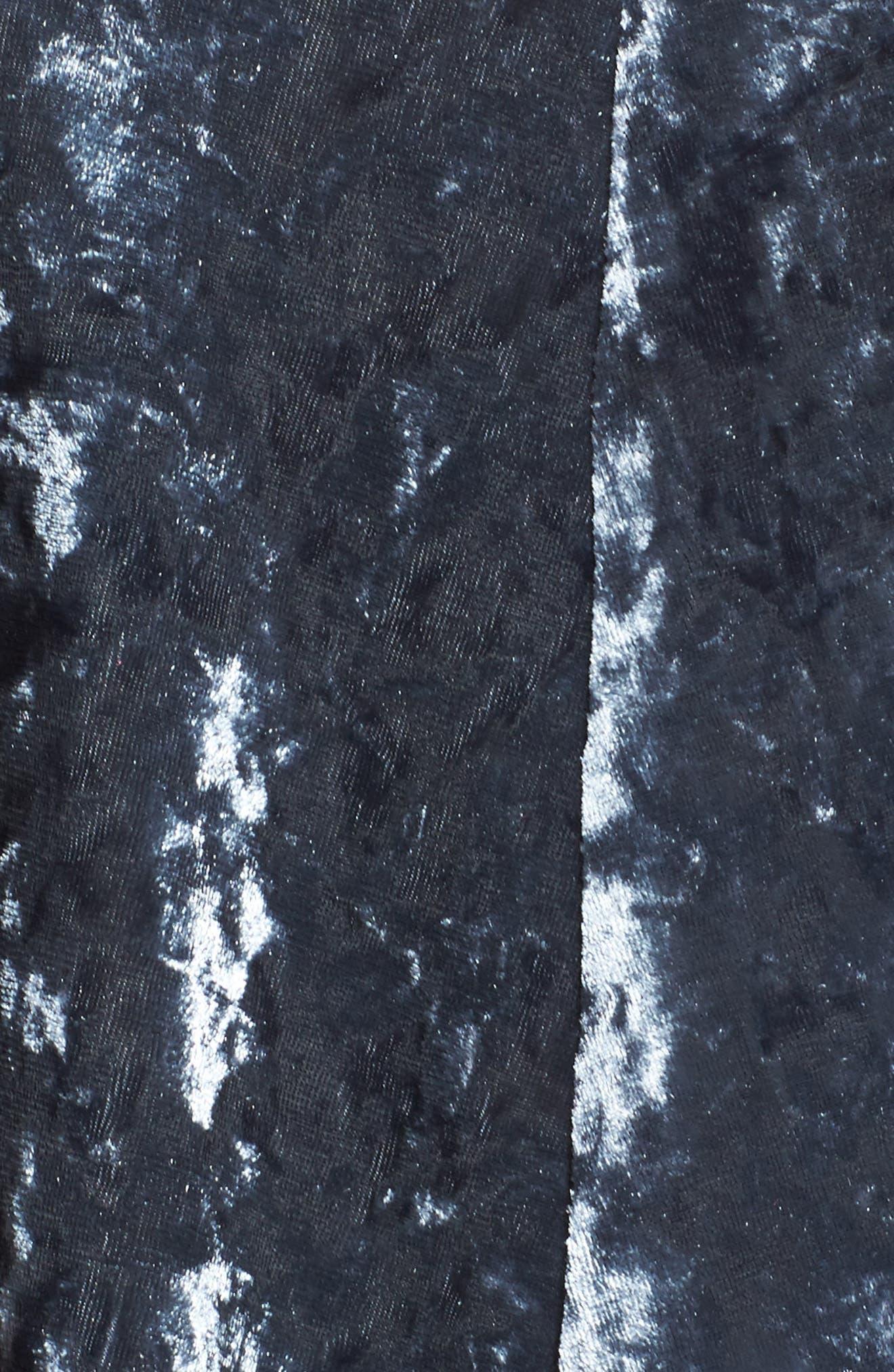 Crushed Velvet Midi Dress,                             Alternate thumbnail 5, color,                             405