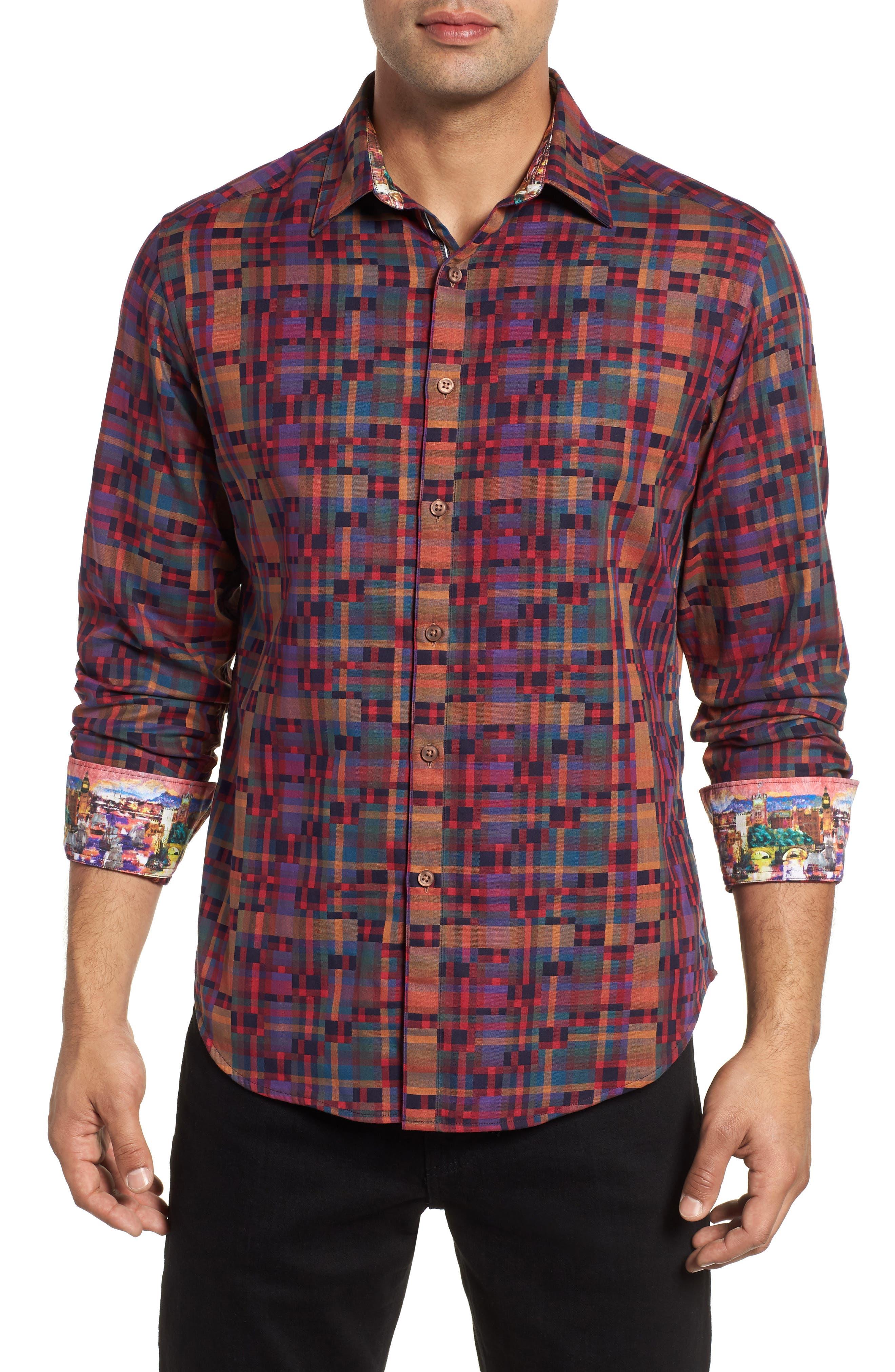 Nash Classic Fit Sport Shirt,                         Main,                         color, MULTI