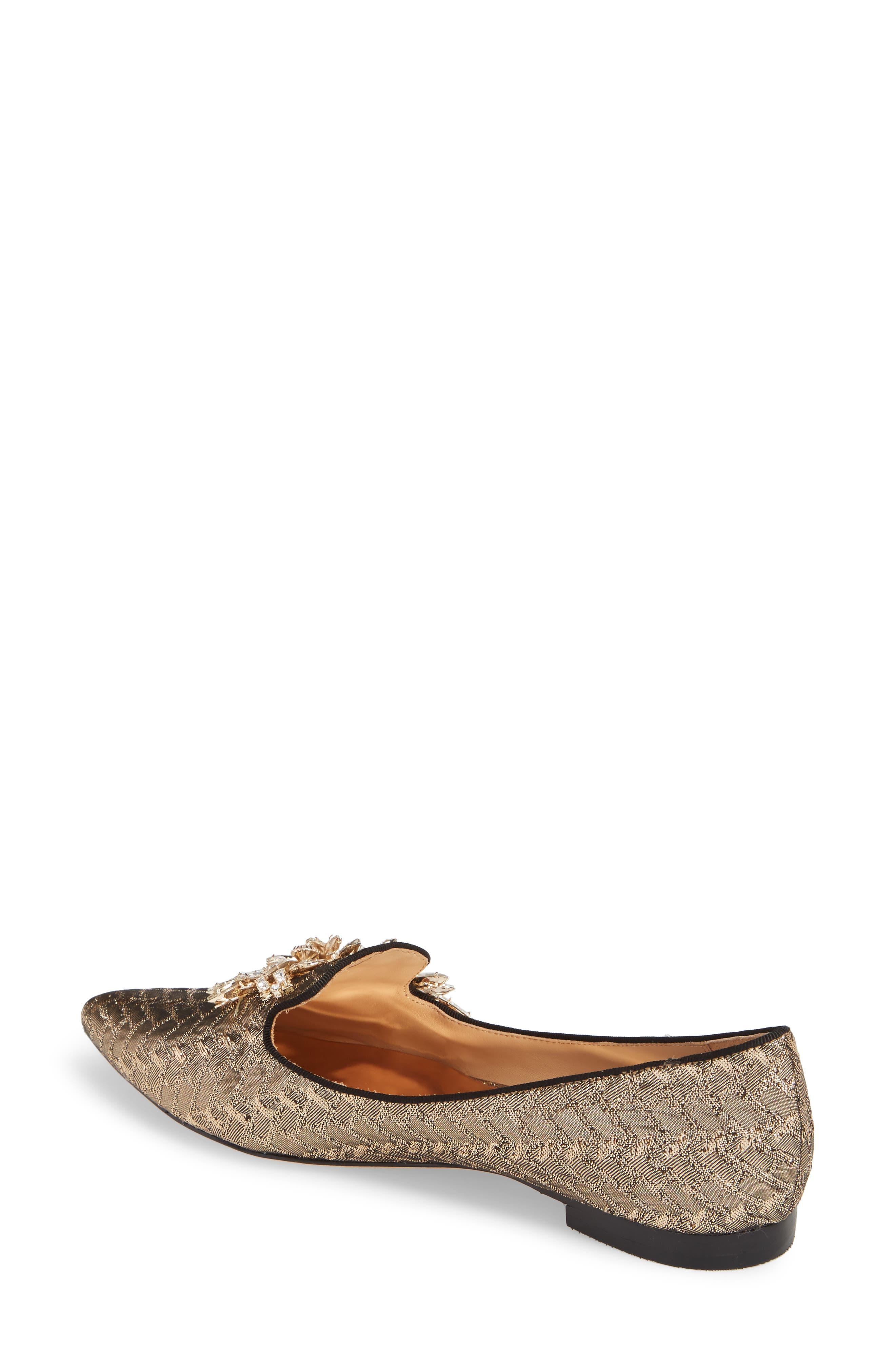 Mandy Embellished Loafer Flat,                             Alternate thumbnail 4, color,