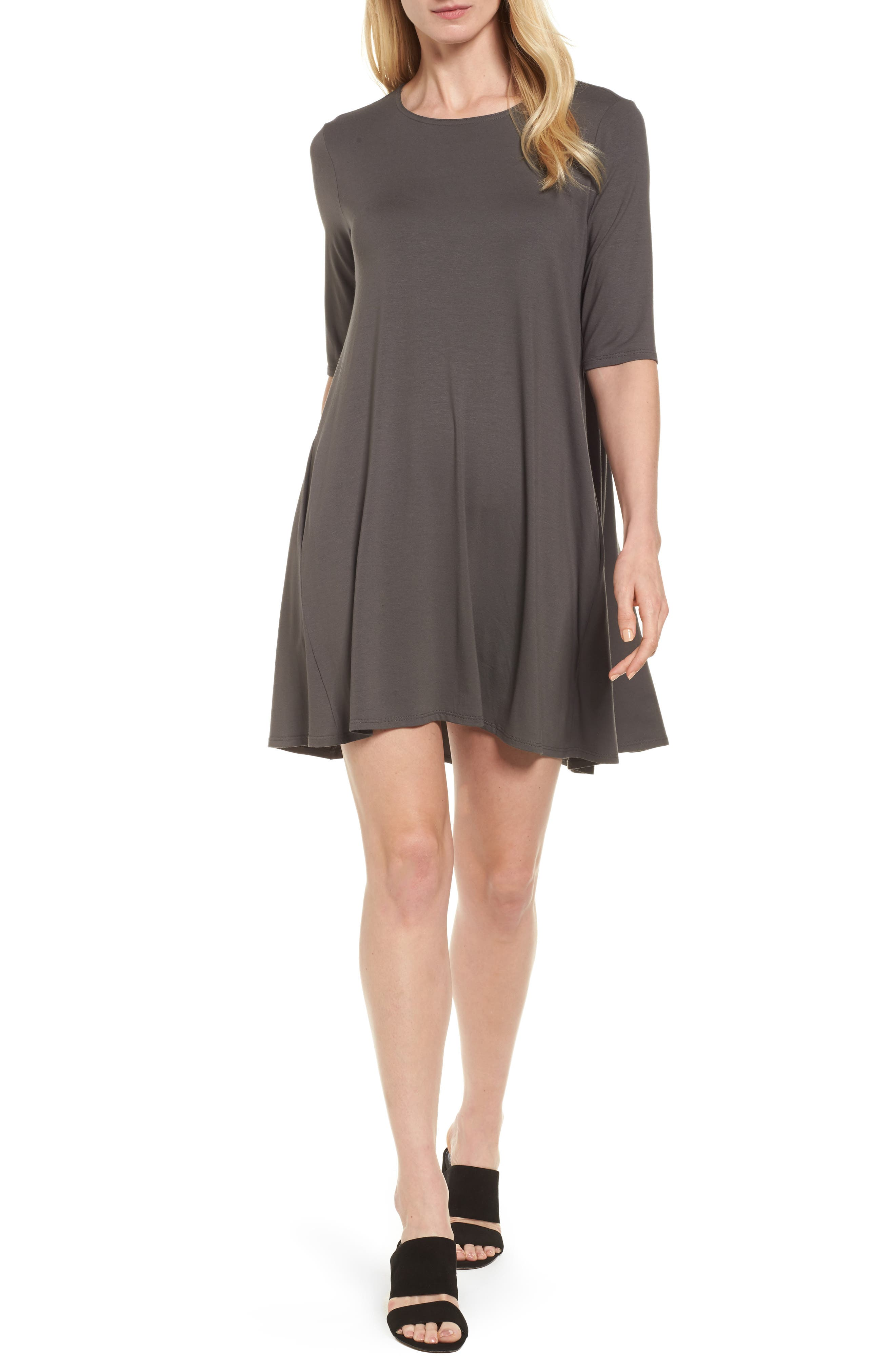 Lightweight Jersey Round Neck Tunic,                             Main thumbnail 2, color,