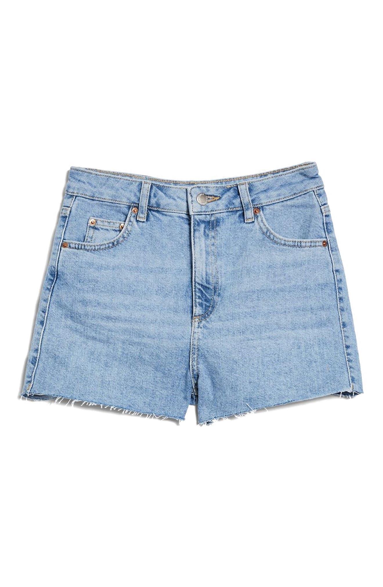 Denim Mom Shorts,                             Alternate thumbnail 4, color,                             420