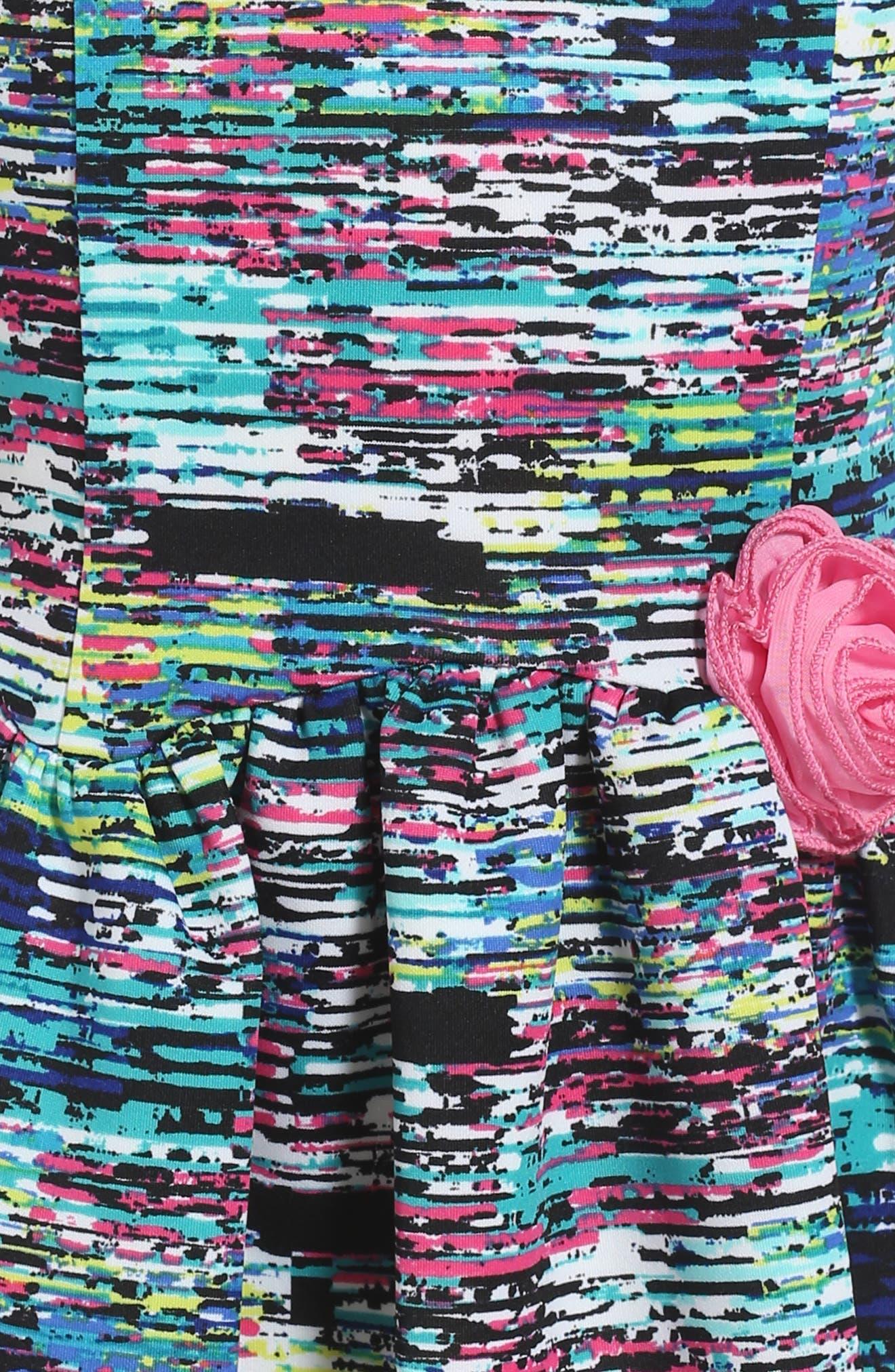 Print Scuba Dress,                             Alternate thumbnail 3, color,