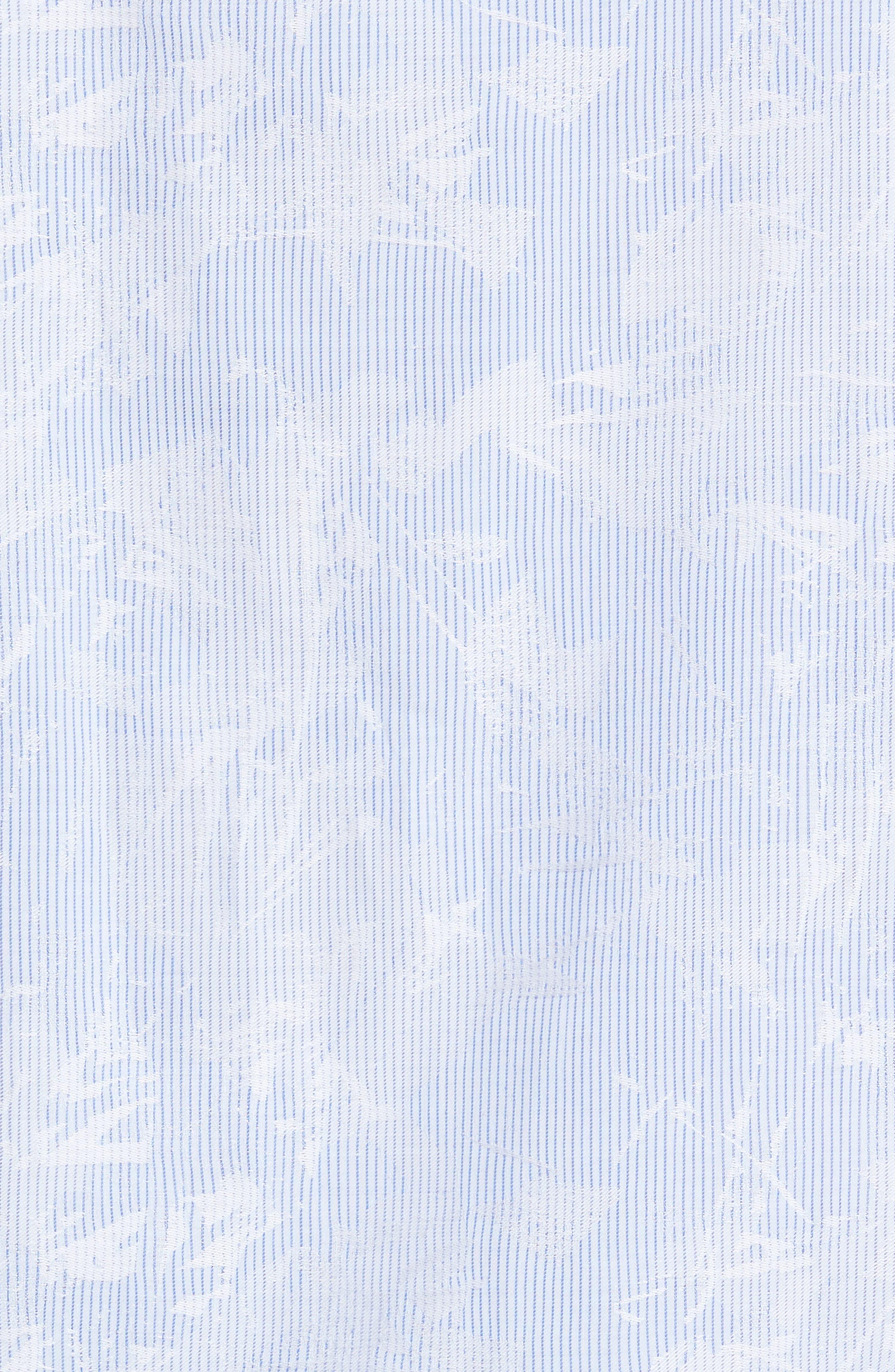 Shaped Fit Jacquard Stripe Sport Shirt,                             Alternate thumbnail 5, color,                             459