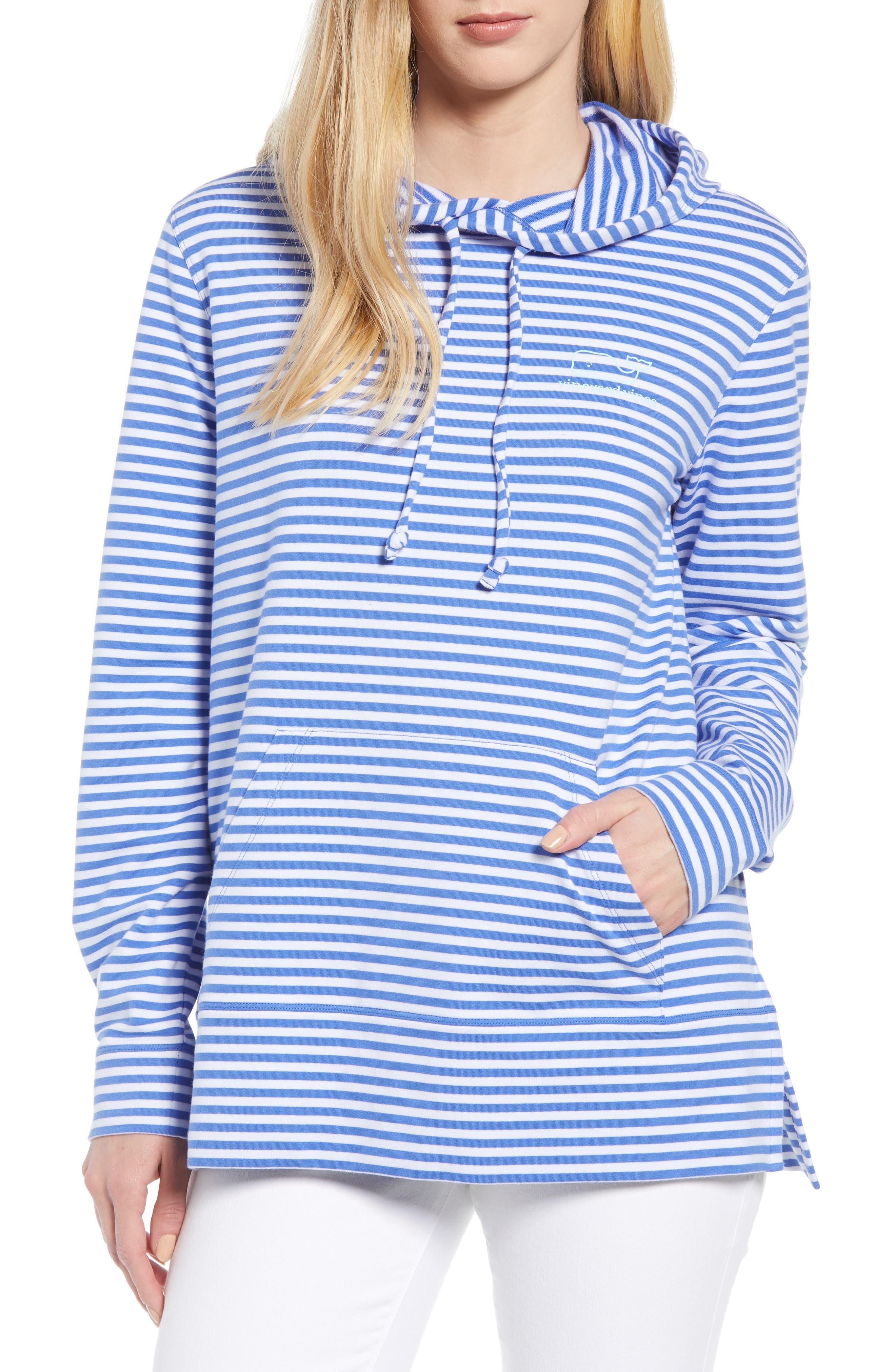 Stripe Whale Hoodie,                         Main,                         color, MARLIN
