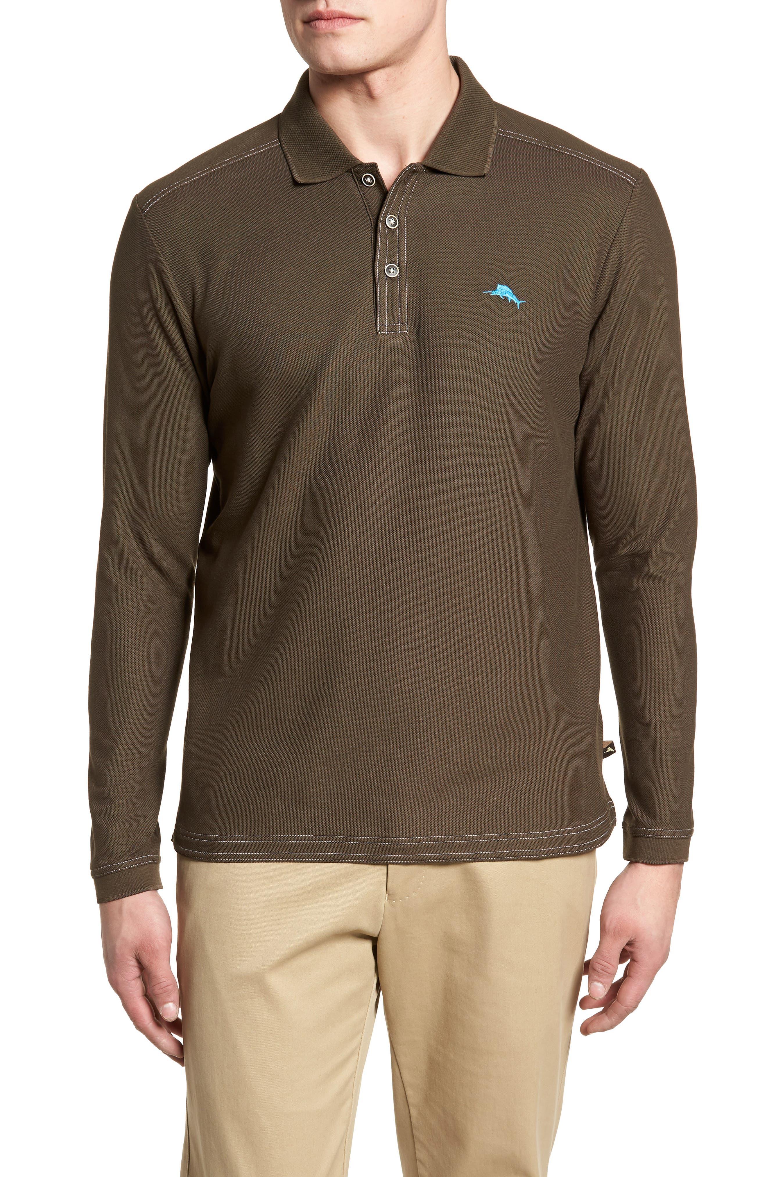 Emfielder Long Sleeve Polo,                             Main thumbnail 1, color,