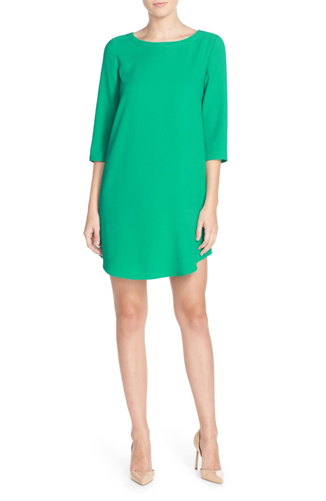 'Jazlyn' Crepe Shift Dress,                             Alternate thumbnail 24, color,