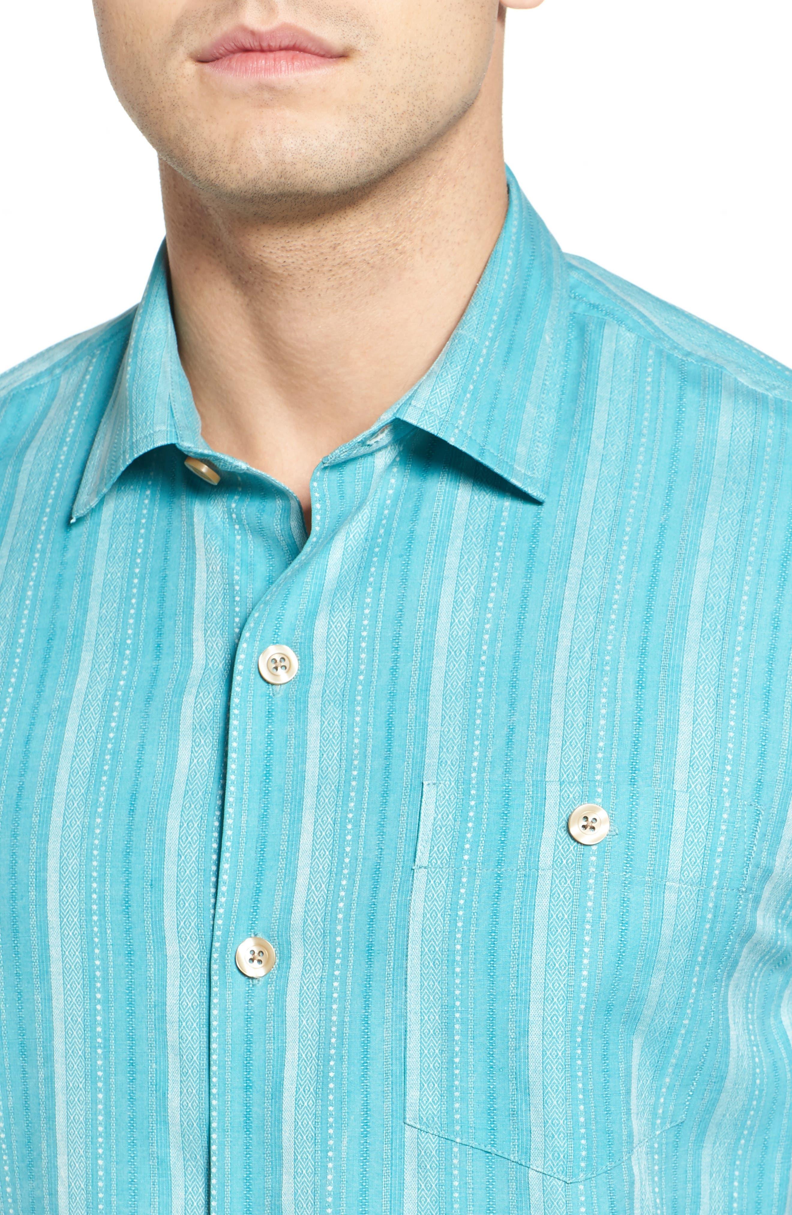 Zaldera Stripe Silk Camp Shirt,                             Alternate thumbnail 16, color,