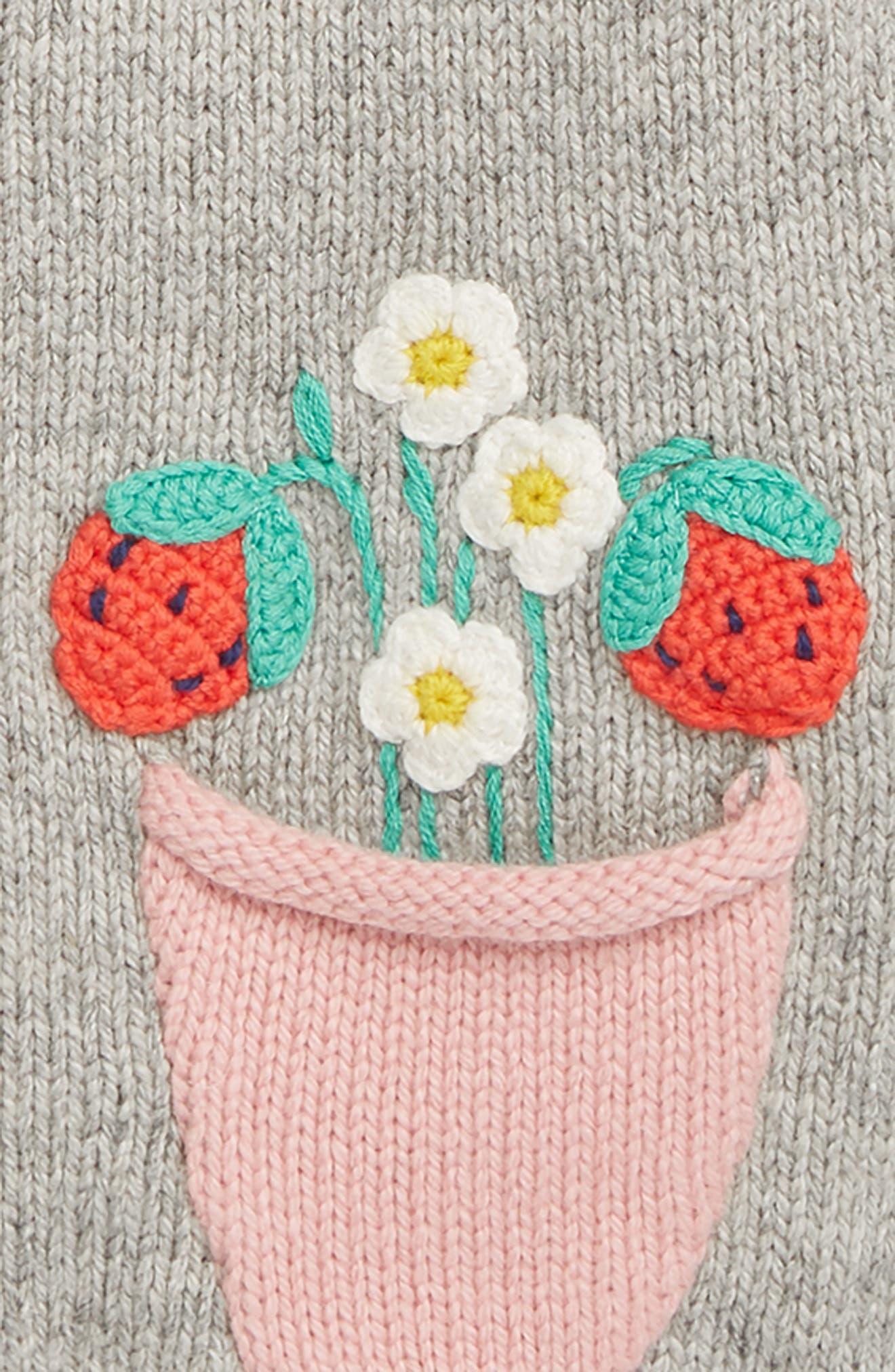 MINI BODEN,                             Fun Cardigan,                             Alternate thumbnail 2, color,                             SLV SILVER MARL PLANTS