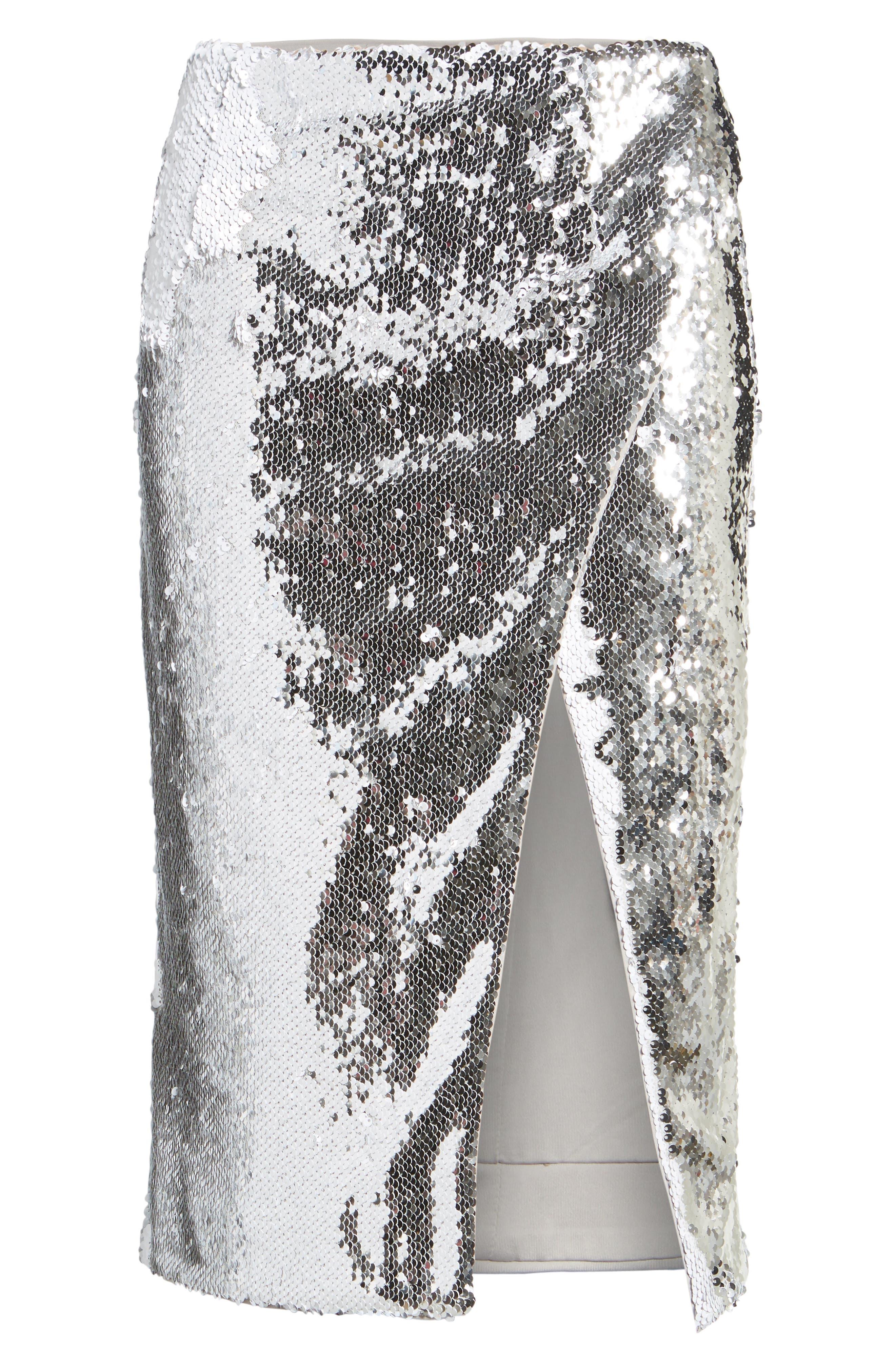 Liana Sequin Skirt,                             Alternate thumbnail 6, color,