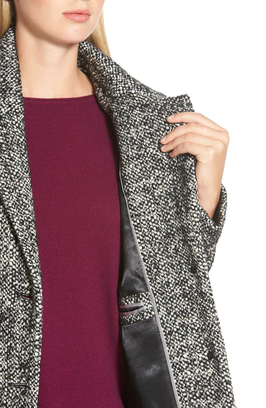Tweed Walking Coat,                             Alternate thumbnail 3, color,                             081