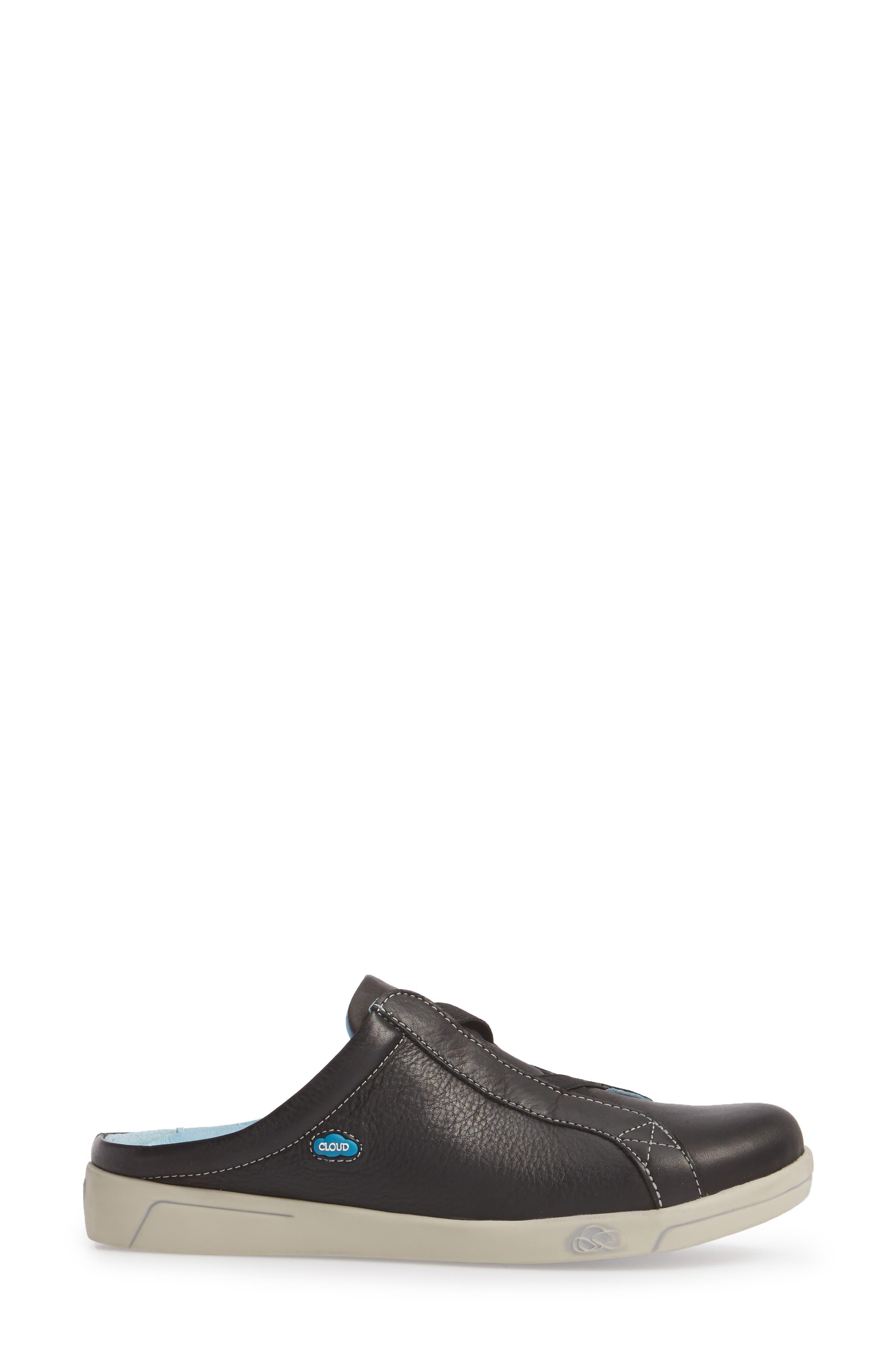Arizona Sneaker,                             Alternate thumbnail 3, color,                             BLACK LEATHER