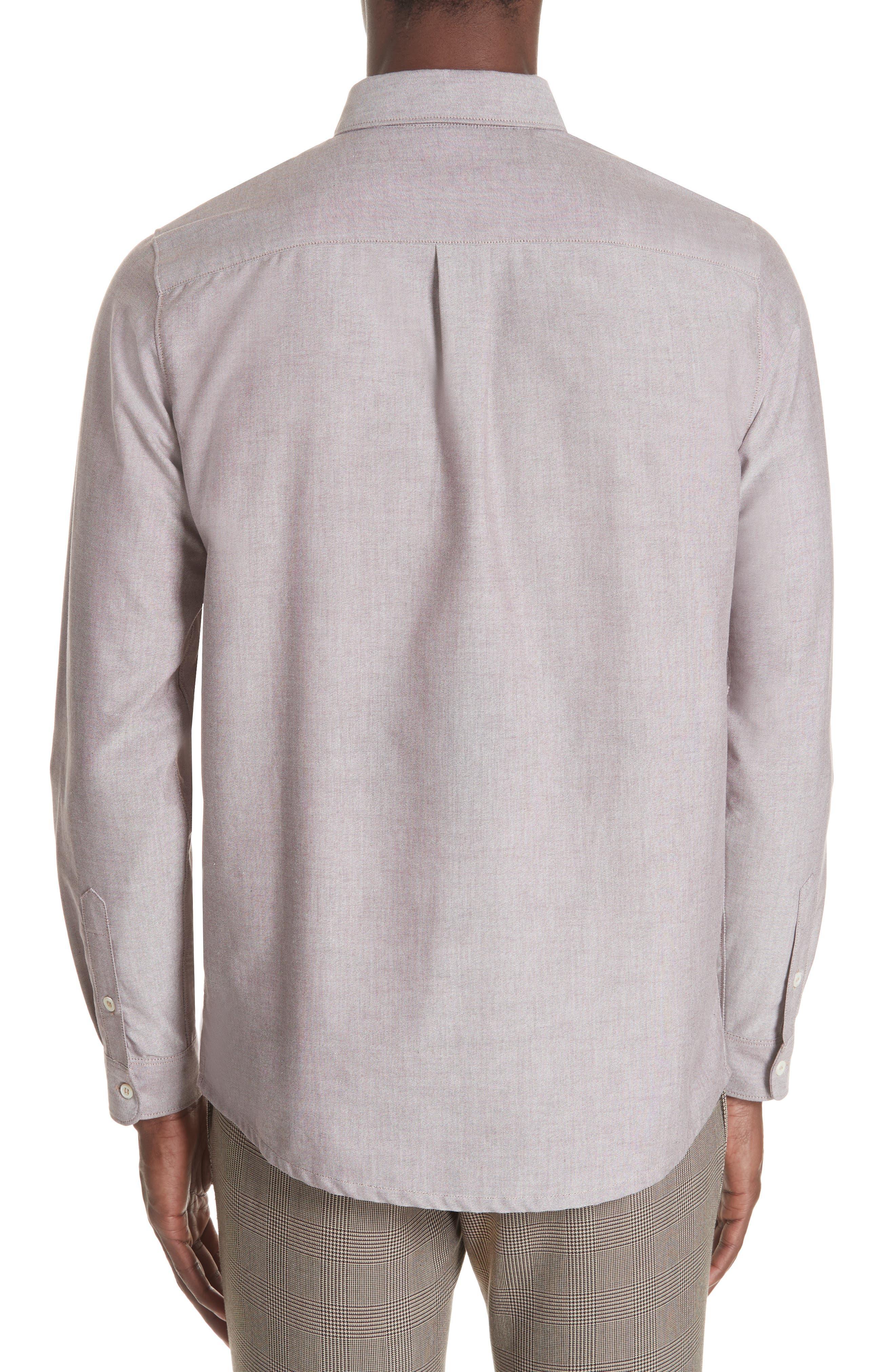 Oxford Sport Shirt,                             Alternate thumbnail 3, color,                             GAC BORDE