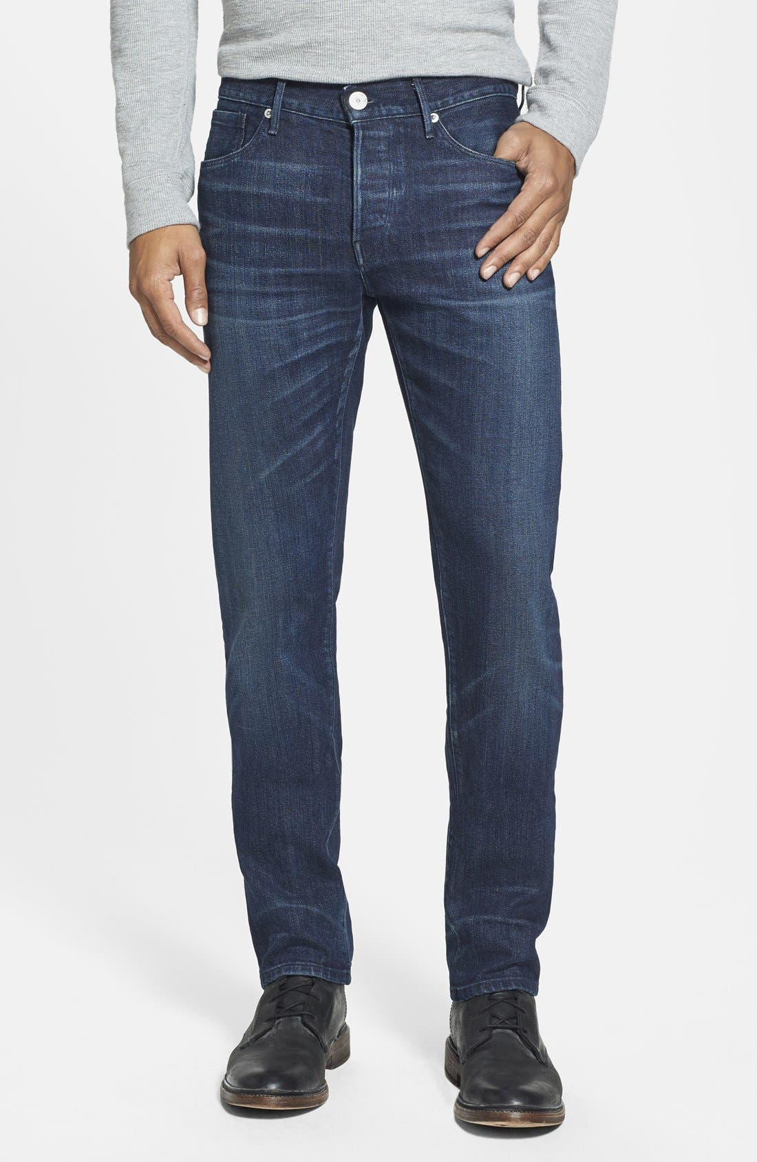 'M3' Slim Fit Selvedge Jeans,                             Main thumbnail 1, color,                             413