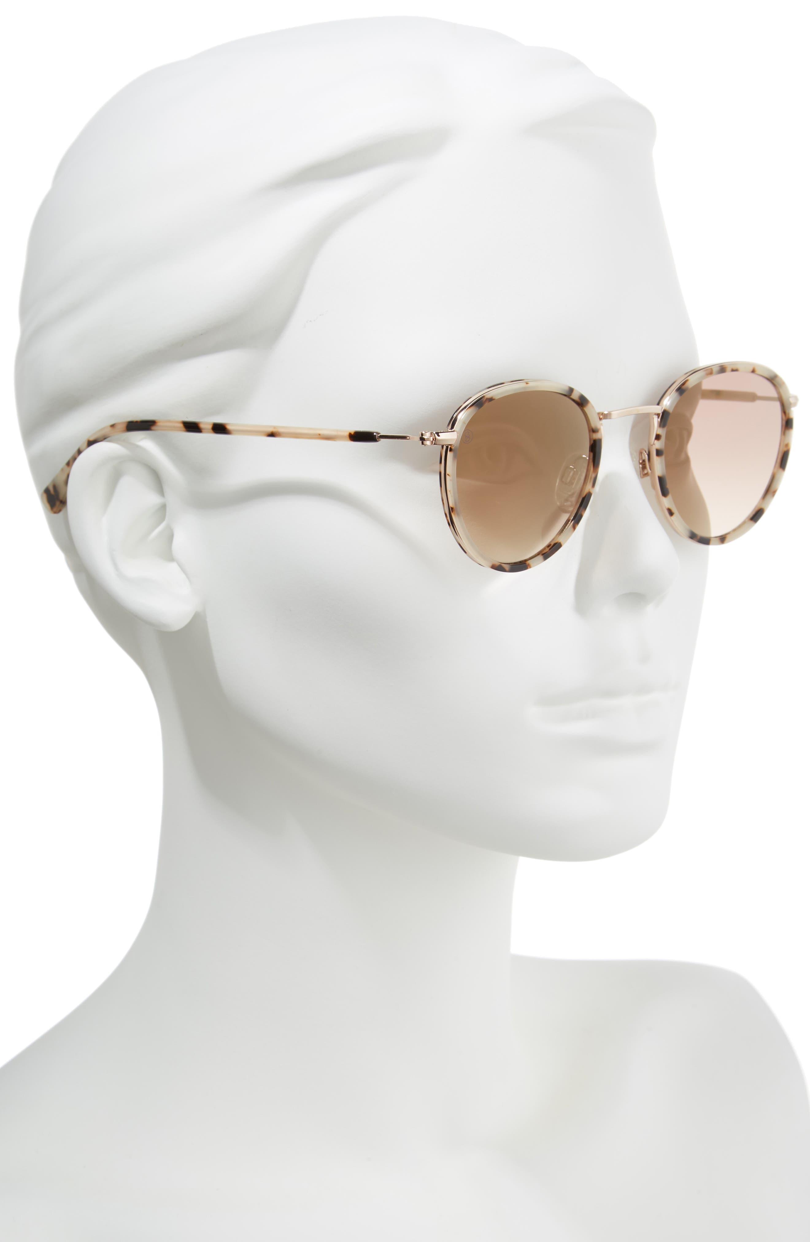 D'BLANC Prologue 48mm Round Sunglasses,                             Alternate thumbnail 2, color,                             200