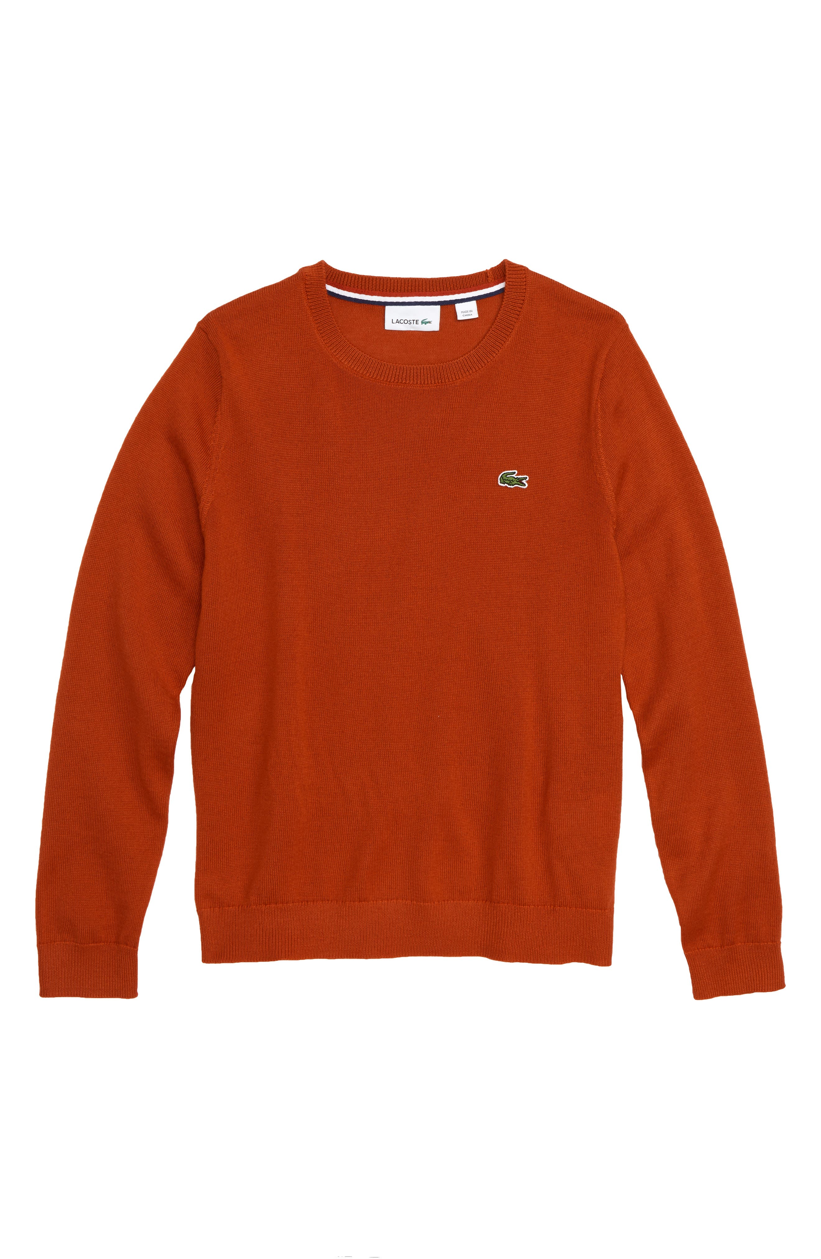 Crewneck Sweater,                         Main,                         color, LIGHTHOUSE RED