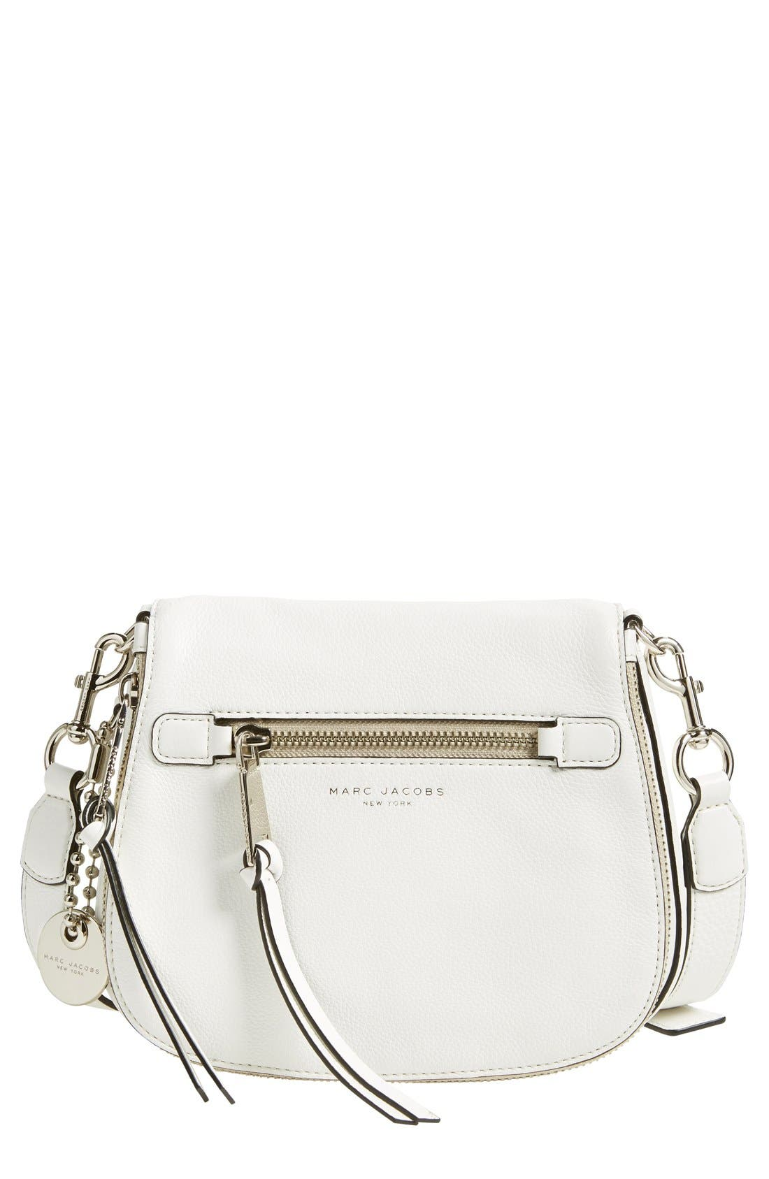 Small Recruit Nomad Pebbled Leather Crossbody Bag,                             Main thumbnail 14, color,
