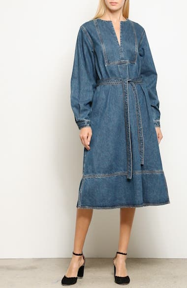 Denim A-Line Dress, video thumbnail