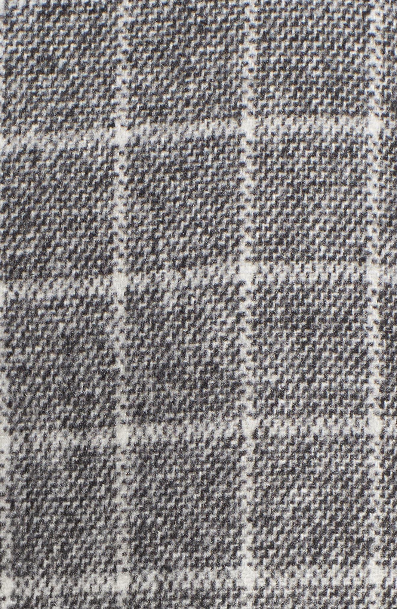 Windowpane Print Ruffle Skirt,                             Alternate thumbnail 5, color,                             001