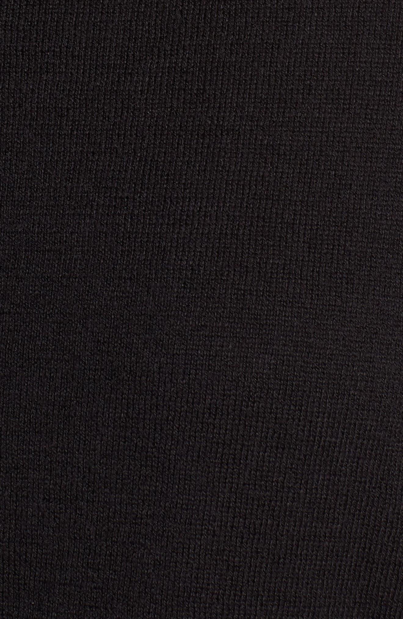 Cotton Blend Cardigan,                             Alternate thumbnail 6, color,                             BLACK