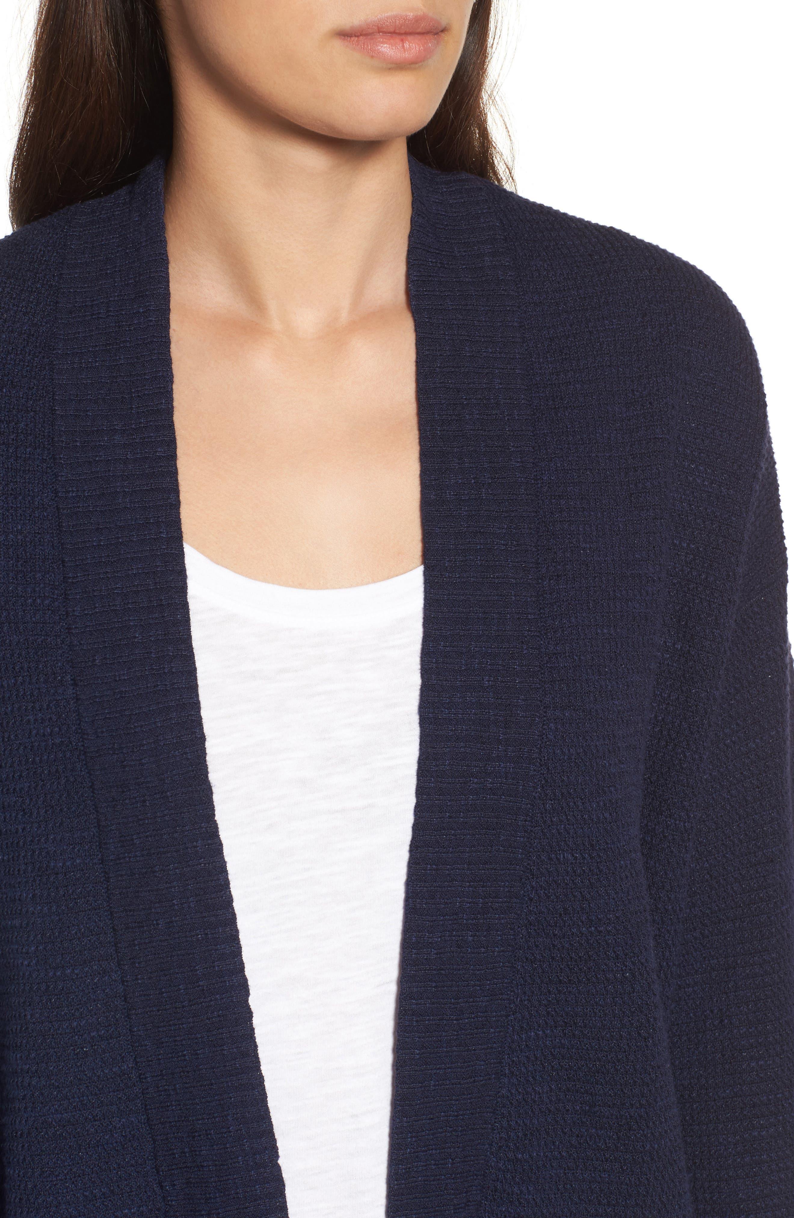 Organic Linen & Cotton Cardigan,                             Alternate thumbnail 8, color,