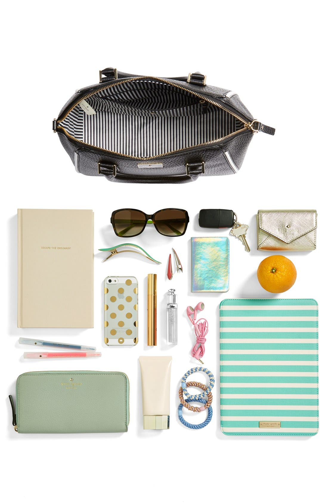 'prospect place - pippa' leather satchel,                             Alternate thumbnail 4, color,                             001
