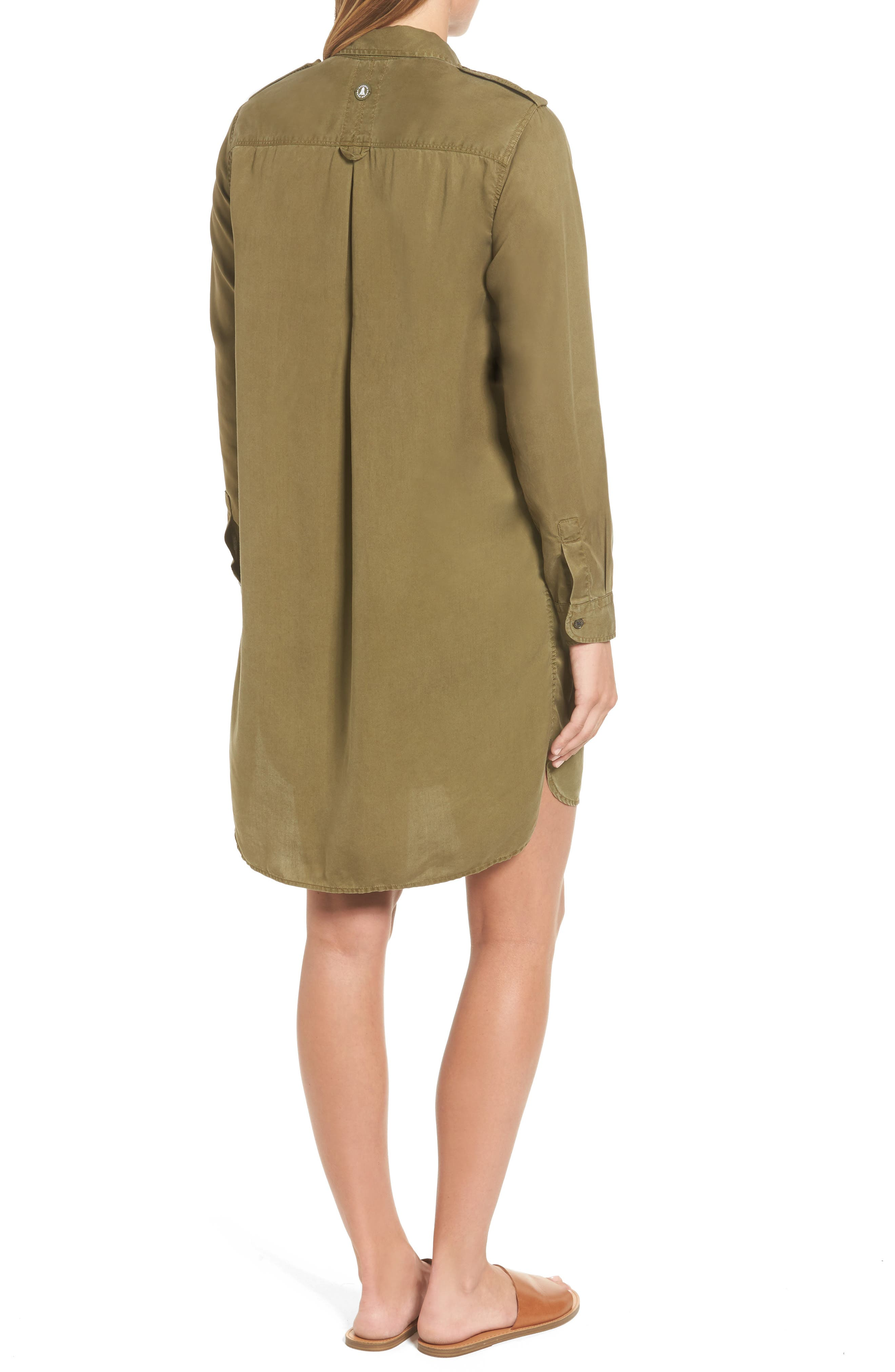Langley Military Twill Dress,                             Alternate thumbnail 2, color,