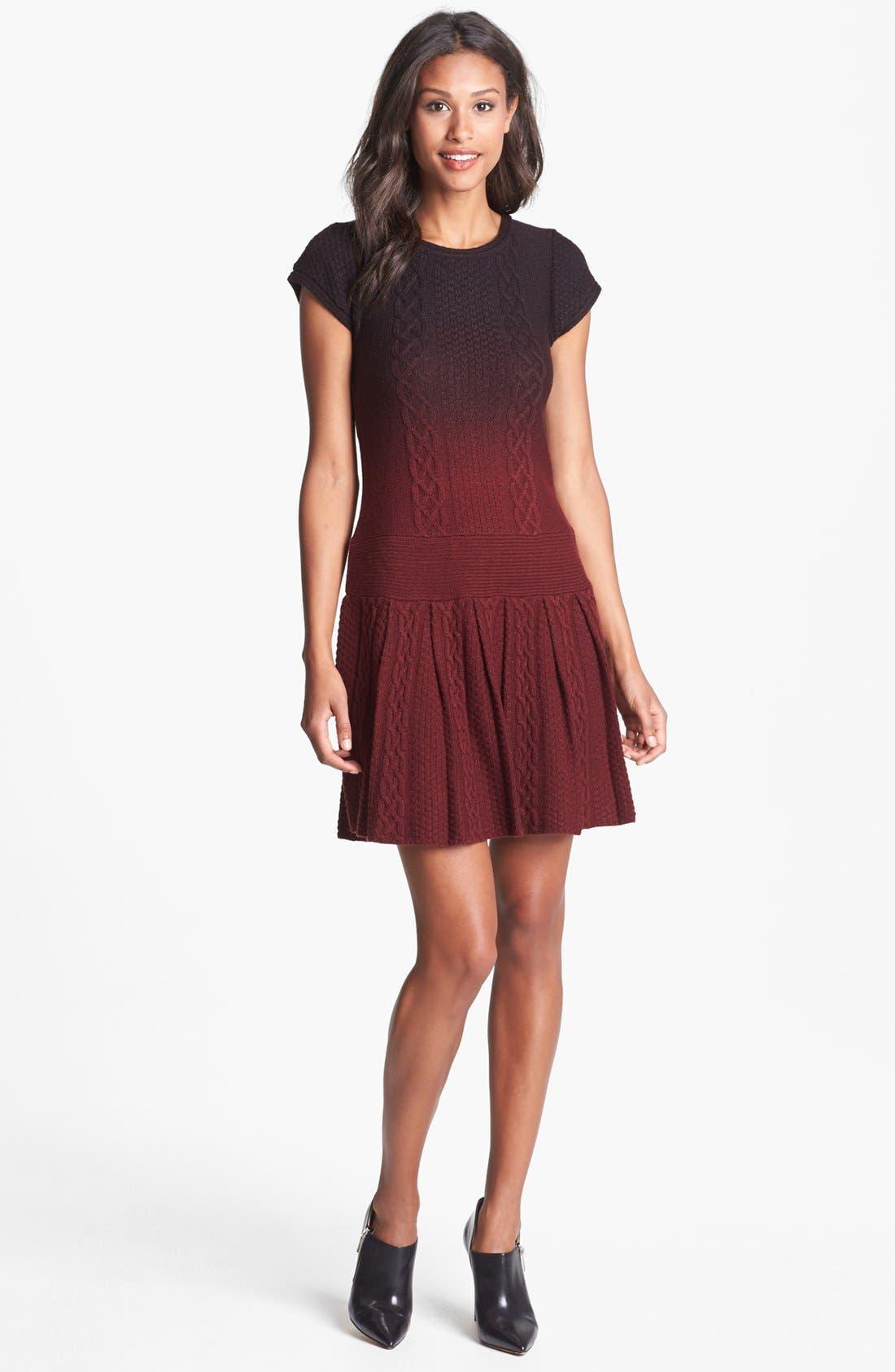 Ombré Sweater Dress,                             Main thumbnail 1, color,                             930