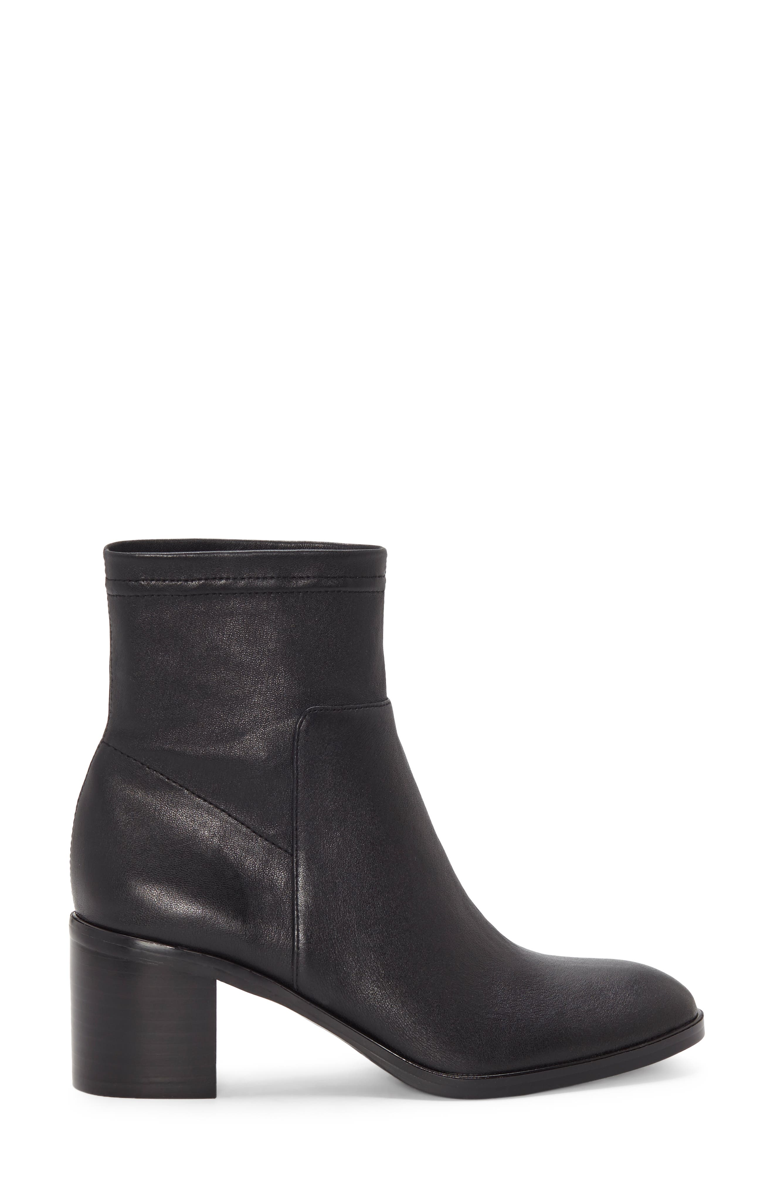Jeandra Bootie,                             Alternate thumbnail 3, color,                             BLACK LEATHER