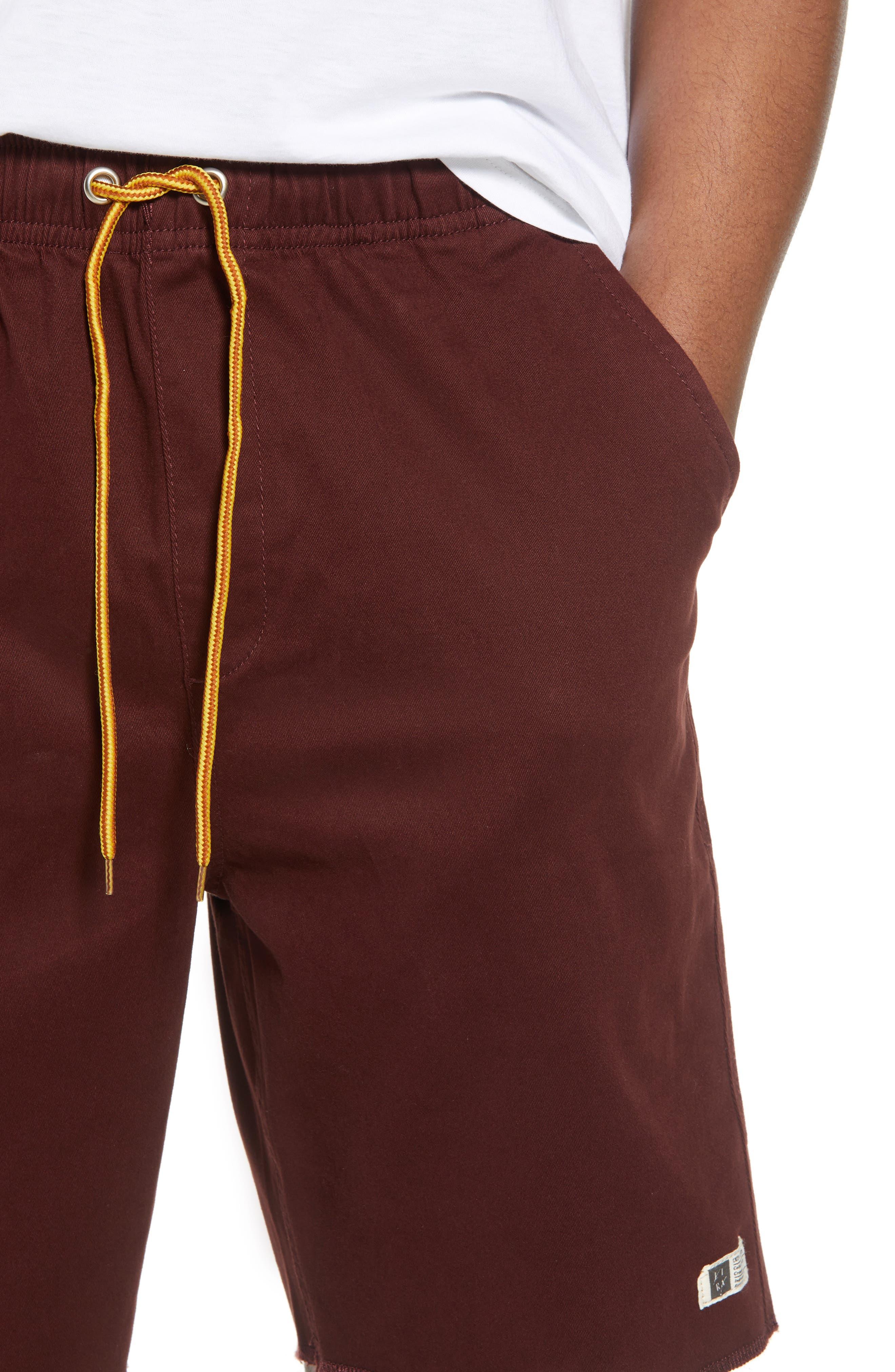 Weekday Shorts,                             Alternate thumbnail 4, color,                             BURGUNDY