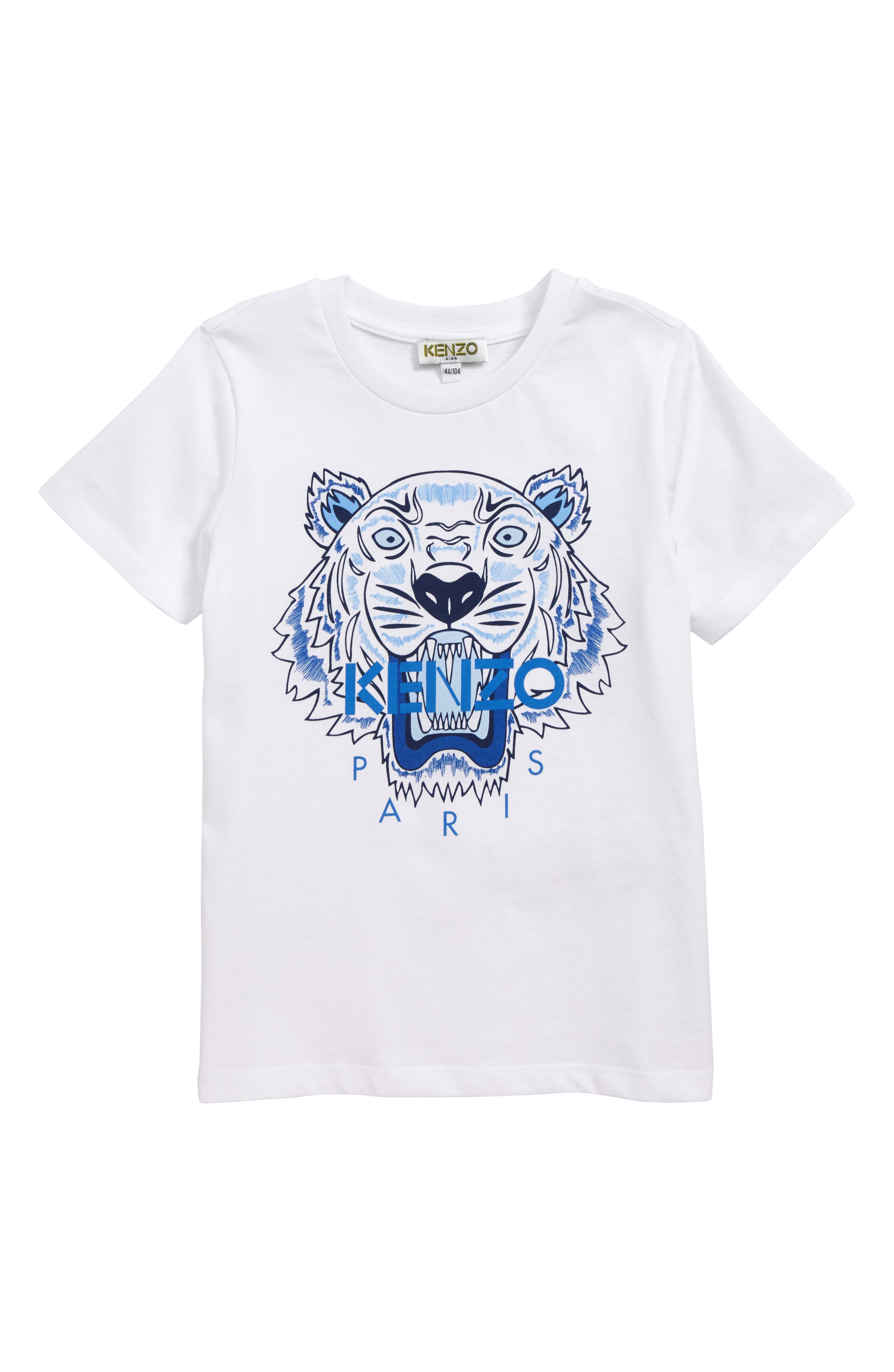Tiger T-Shirt, Main, color, WHITE