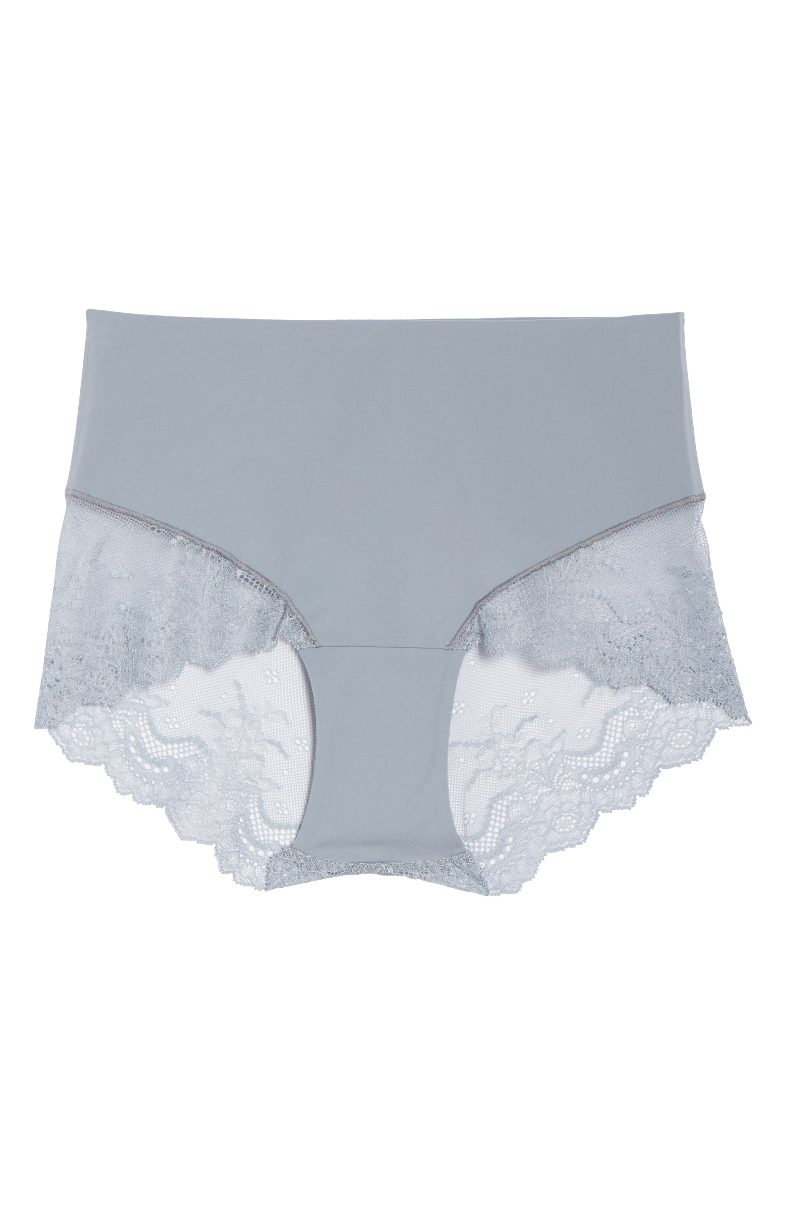 Undie-tectable Lace Hipster Panties,                             Alternate thumbnail 6, color,                             FOG GREY