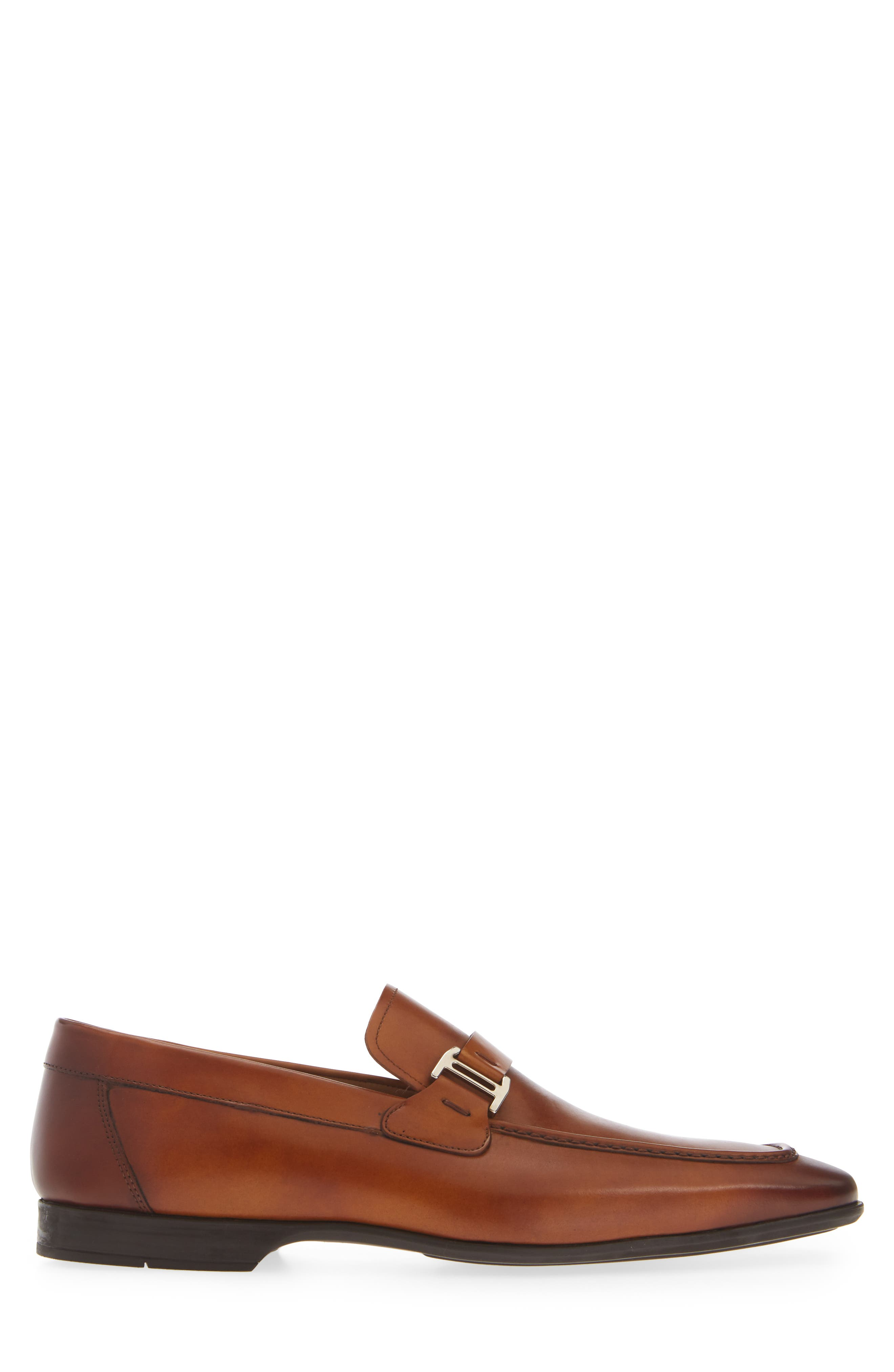 'Lino' Loafer,                             Alternate thumbnail 3, color,                             BROWN LEATHER