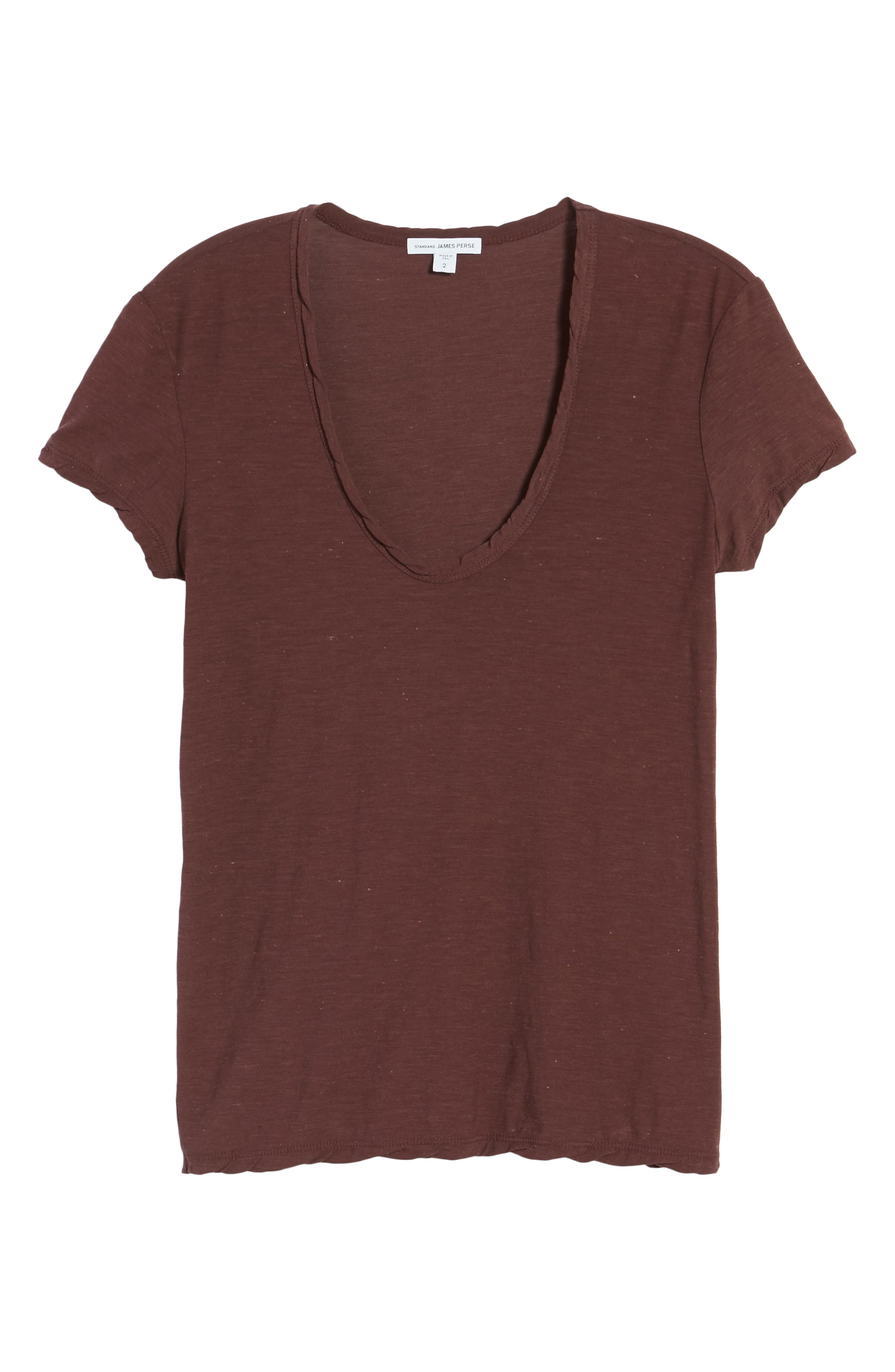 Deep V-Neck Tee,                             Alternate thumbnail 18, color,