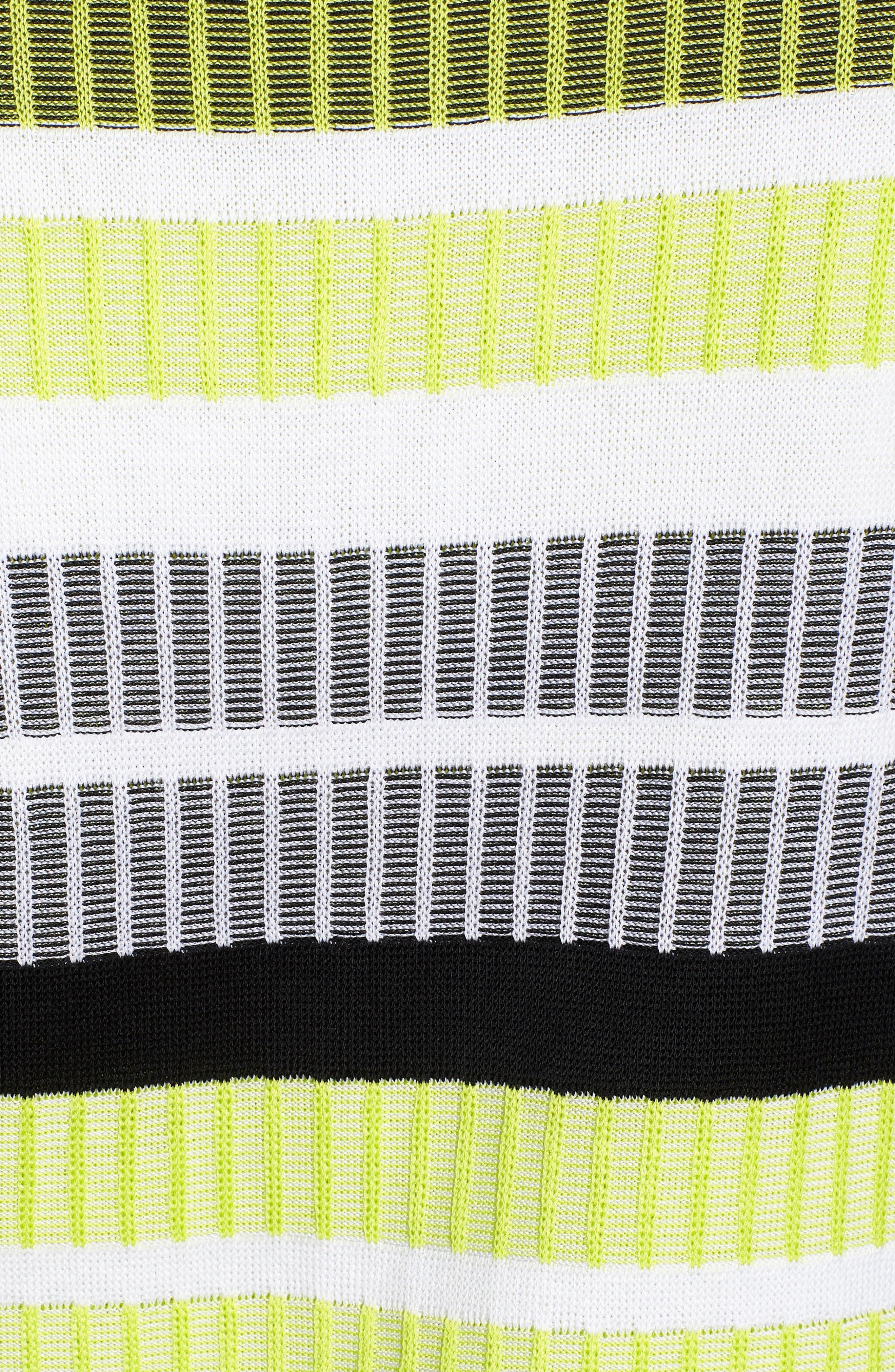 Long Sleeve Stripe Jacket,                             Alternate thumbnail 6, color,                             BLACK/ PEAR/ WHITE