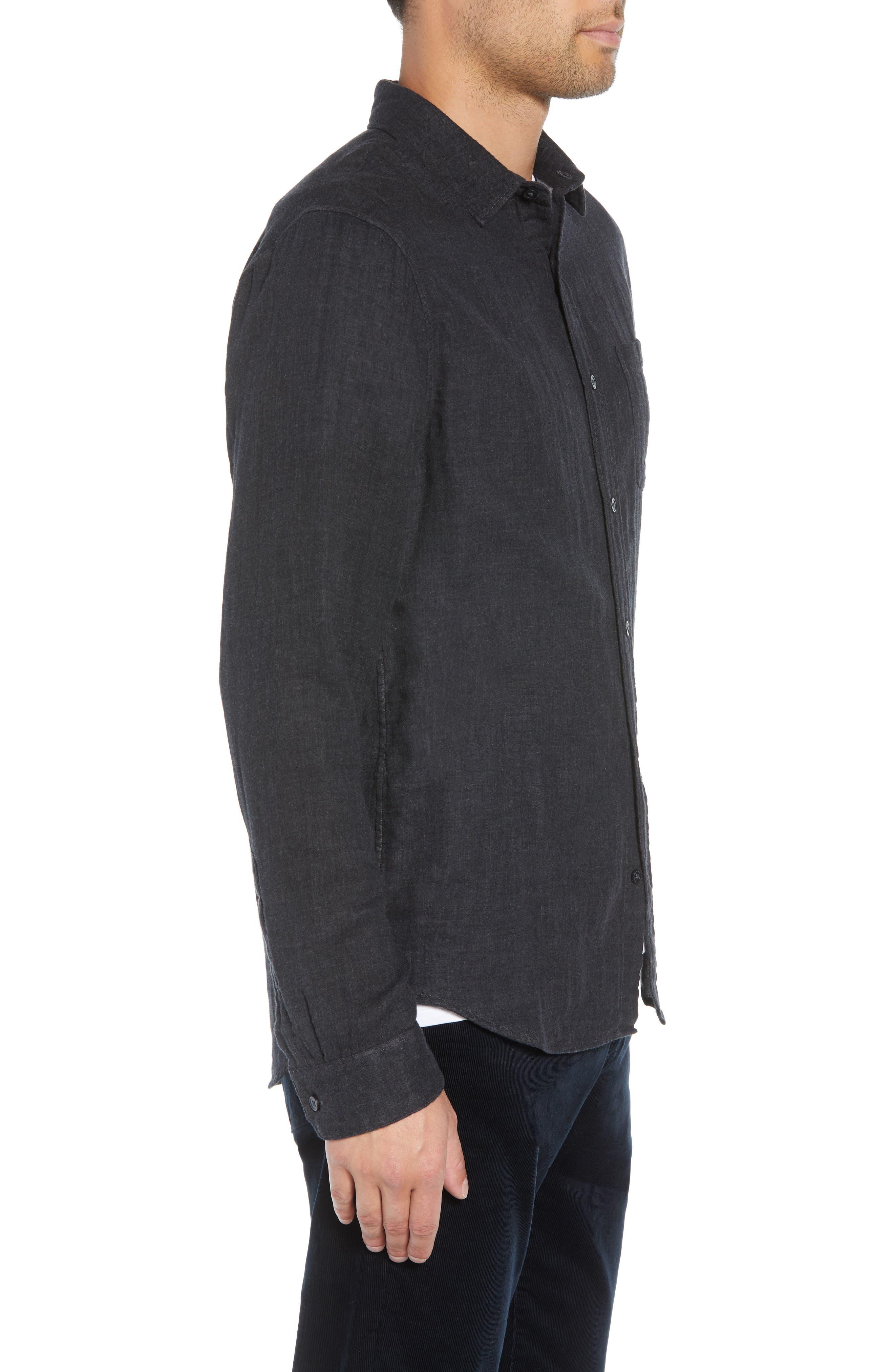 Classic Fit Double Knit Sport Shirt,                             Alternate thumbnail 4, color,                             008