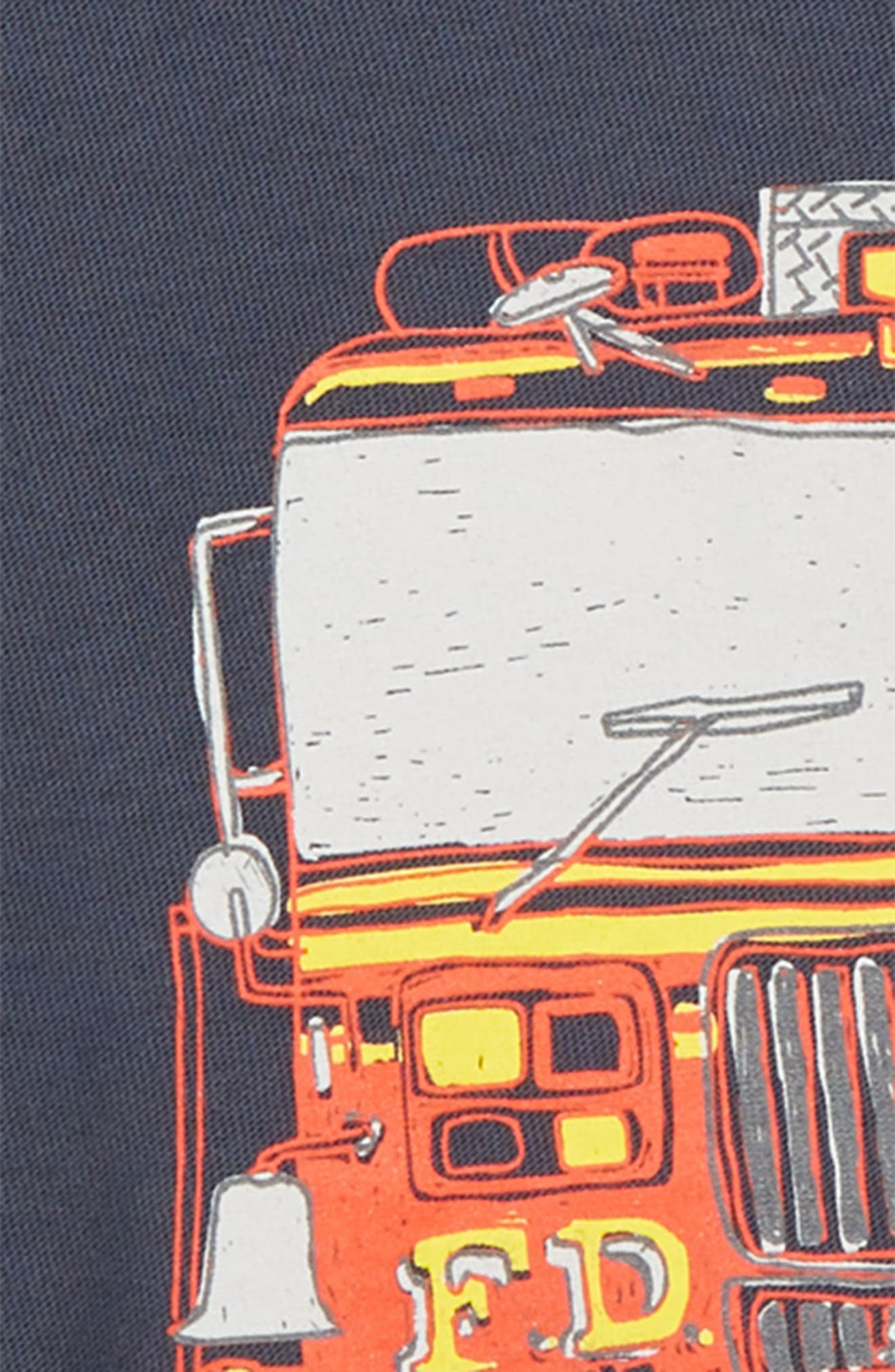 Fire Truck T-Shirt,                             Alternate thumbnail 3, color,                             INDIGO
