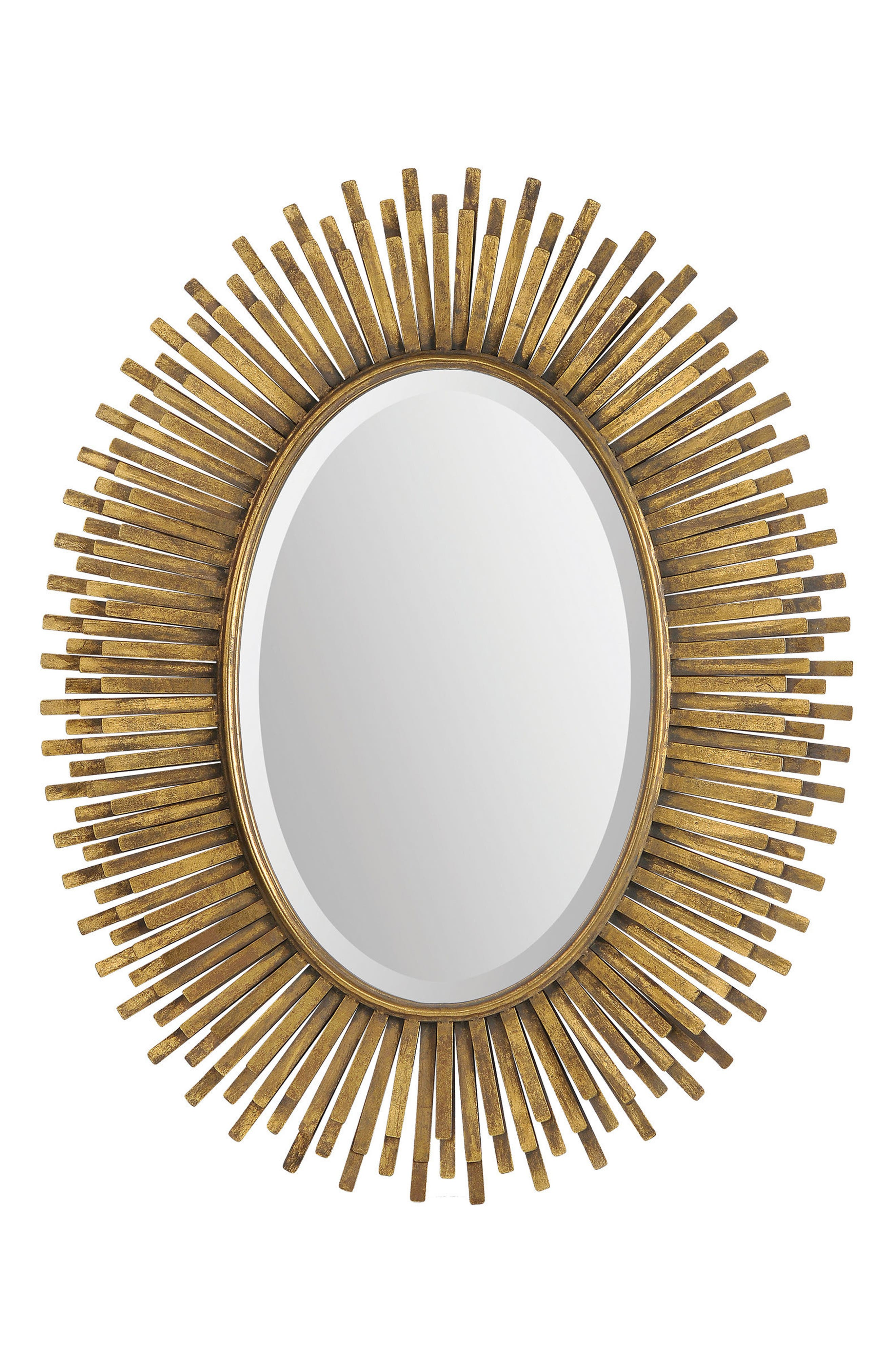 Sparta Mirror,                             Main thumbnail 1, color,                             ANTIQUE GOLD LEAF